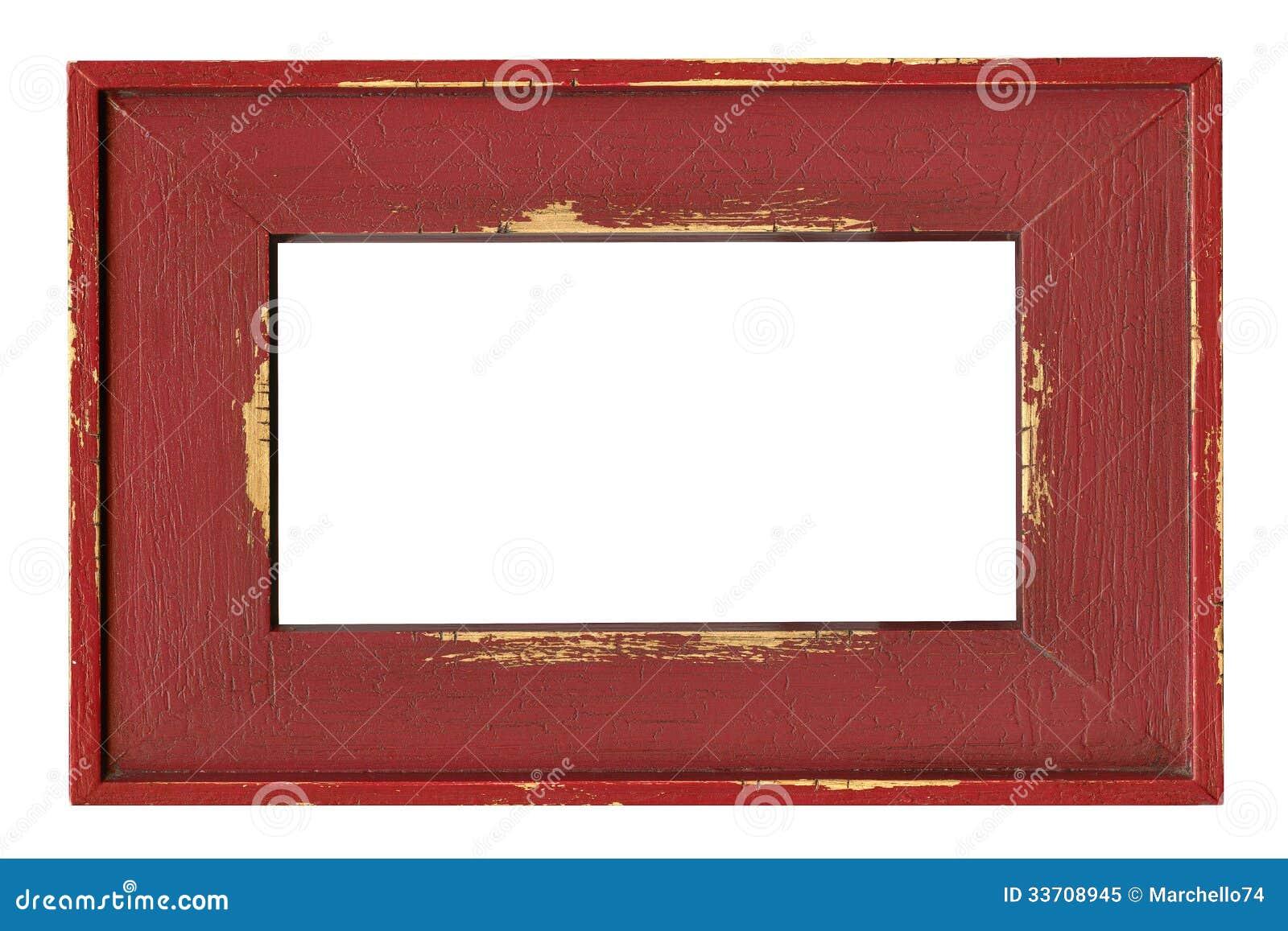 Holz Gemalter Rahmen Lokalisiert Auf Weiß Stockbild - Bild von ...