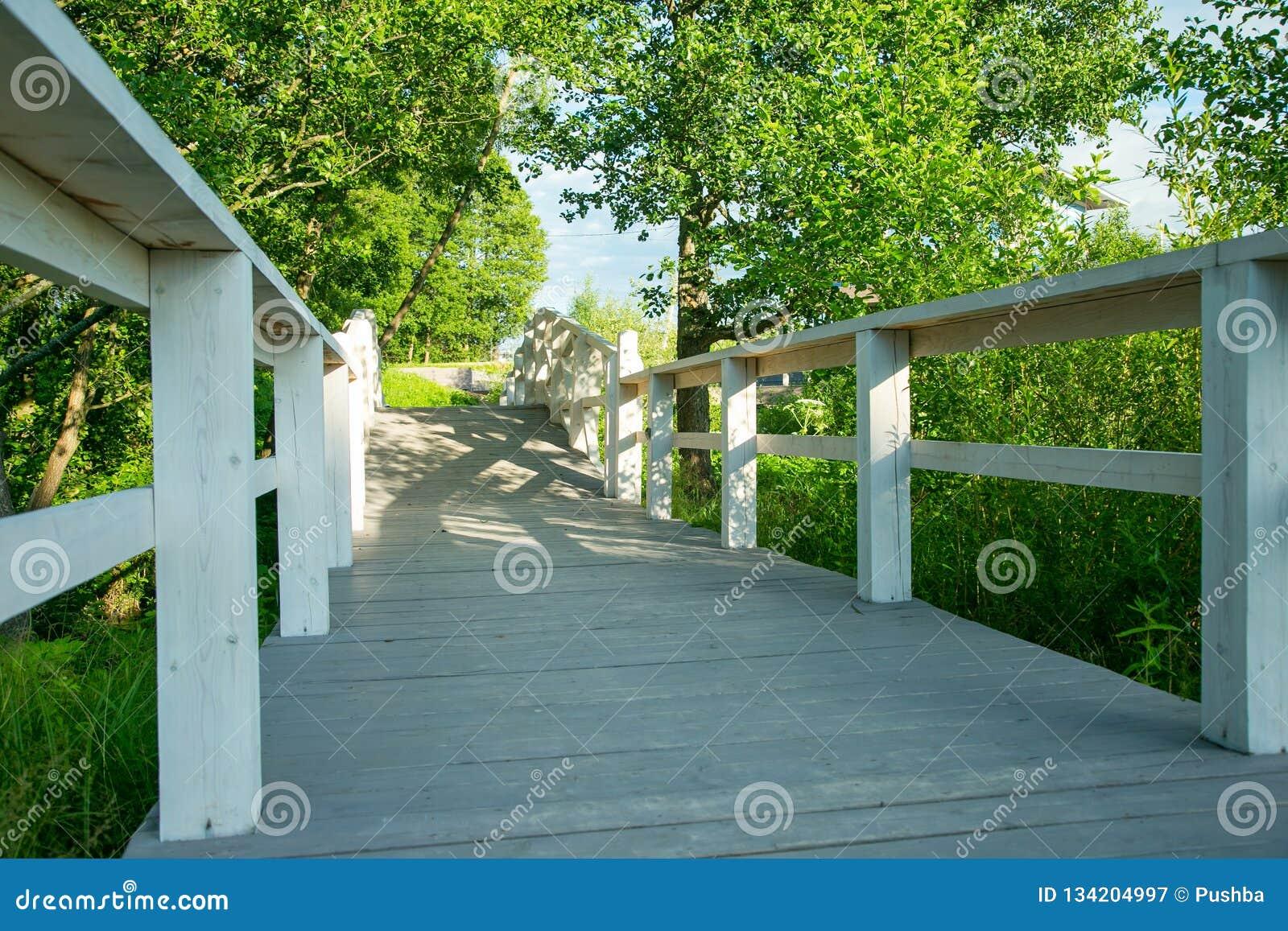 Holzbrücke Im Garten Stockbild Bild Von Dekorativ Element 134204997