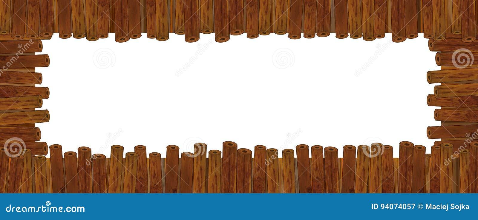 Holzrahmen der Karikatur