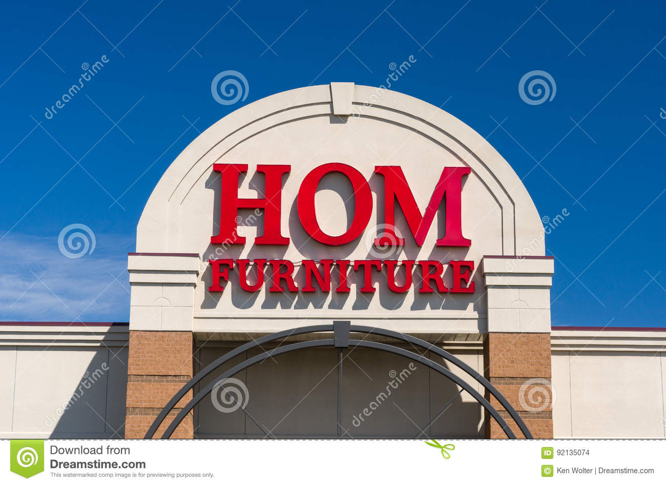 Hom Furniture Exterior And Logo Editorial Stock Image. Hom Furniture Exterior And Logo Editorial Stock Image   Image