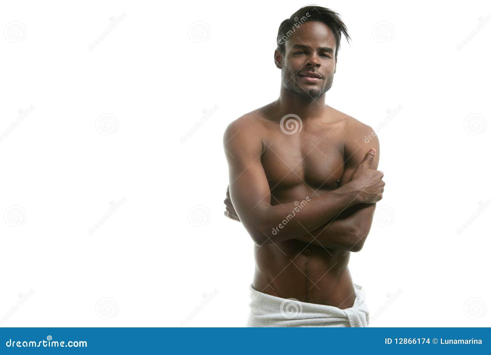 Revista de hombre desnudo negro