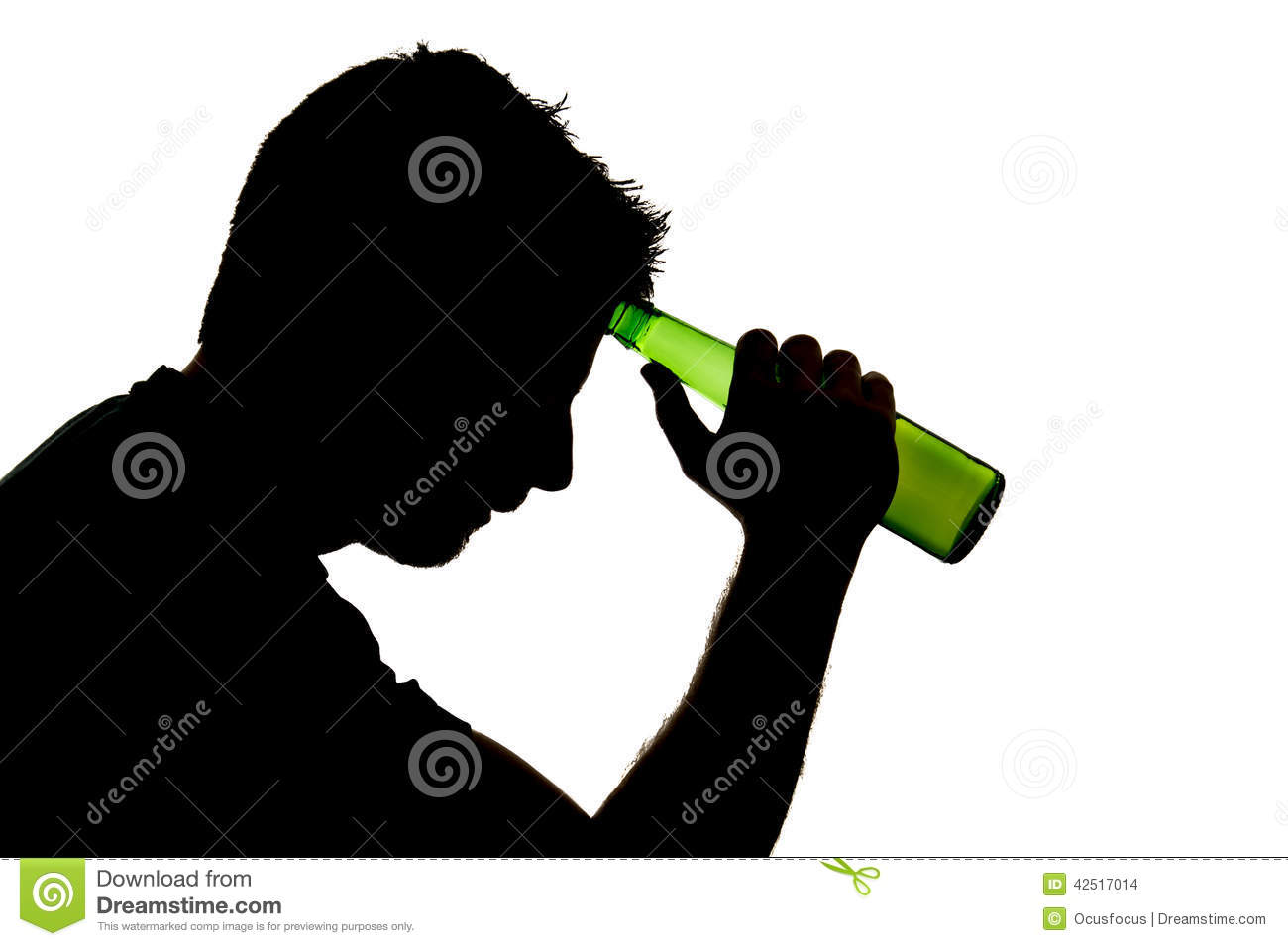 Man Drunk with Alcohol Bottles