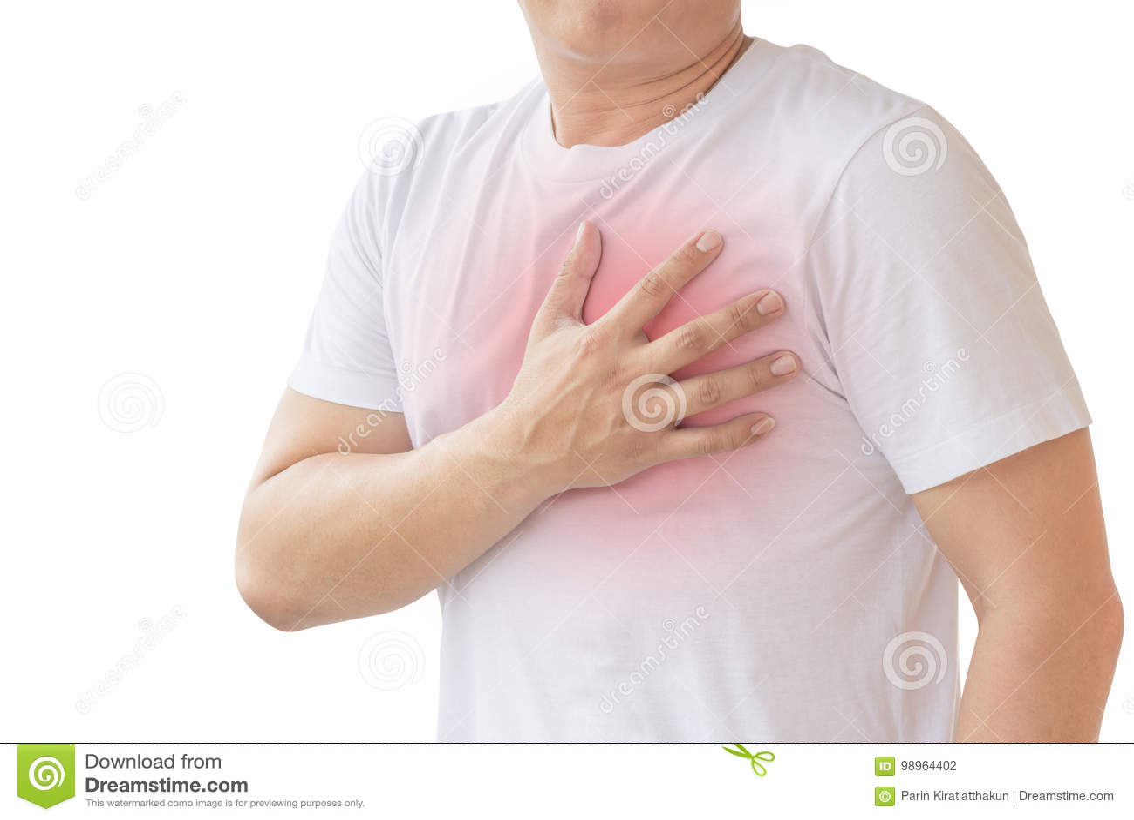 Hombre con ataque del corazón