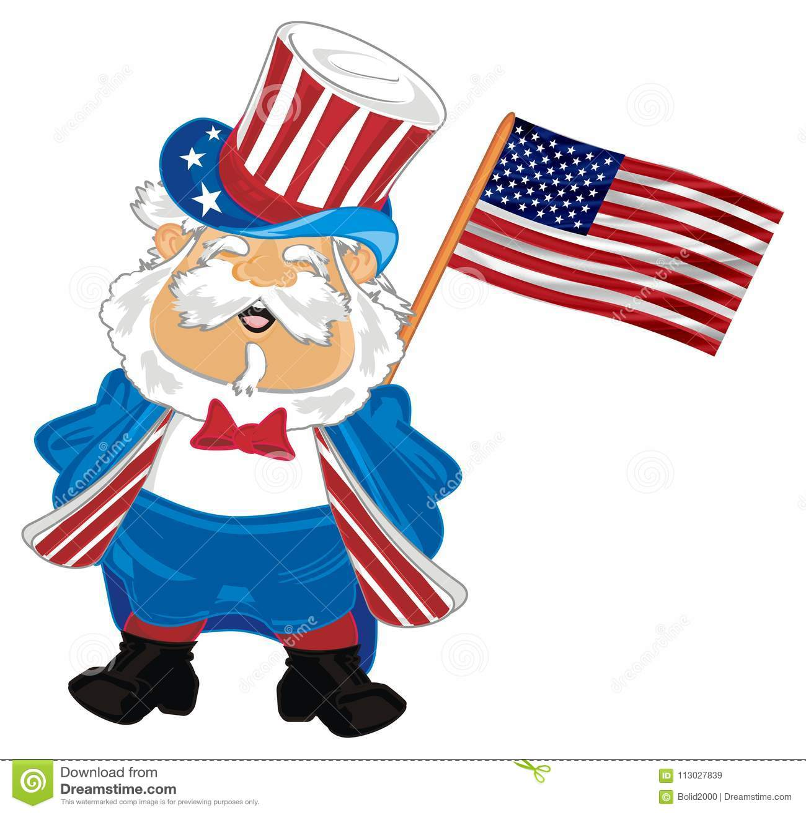 Hombre con el indicador americano