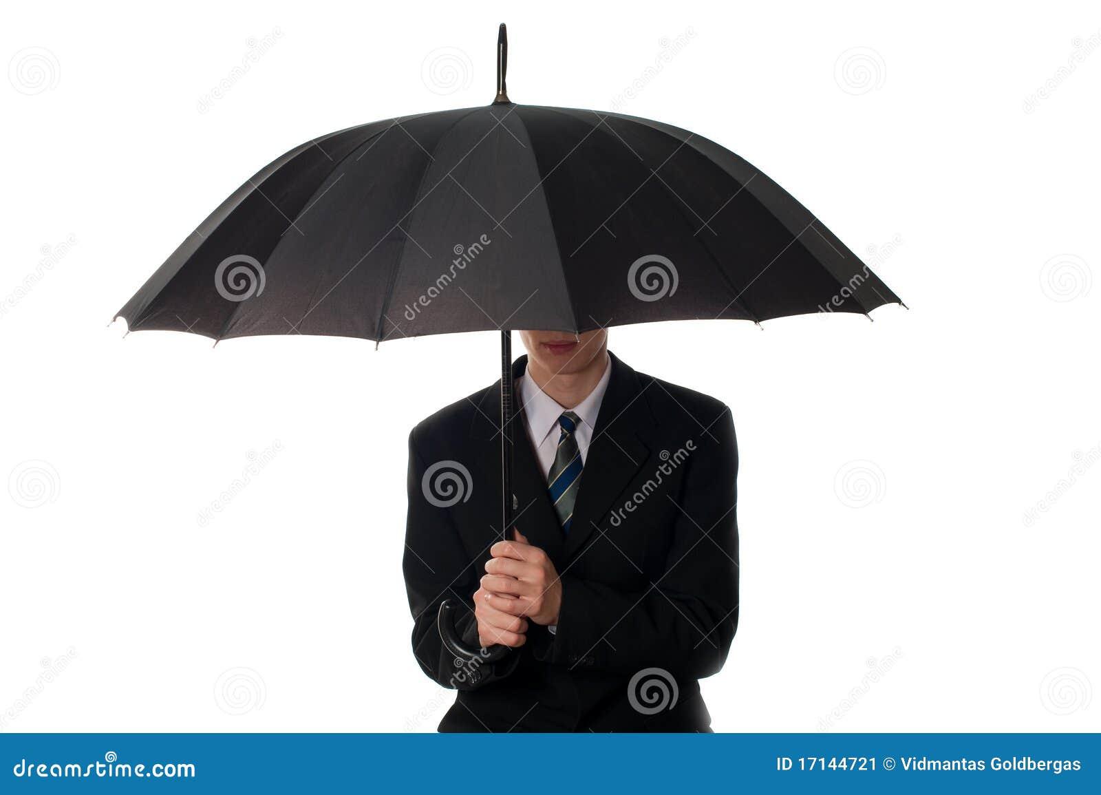 Hombre con el paraguas