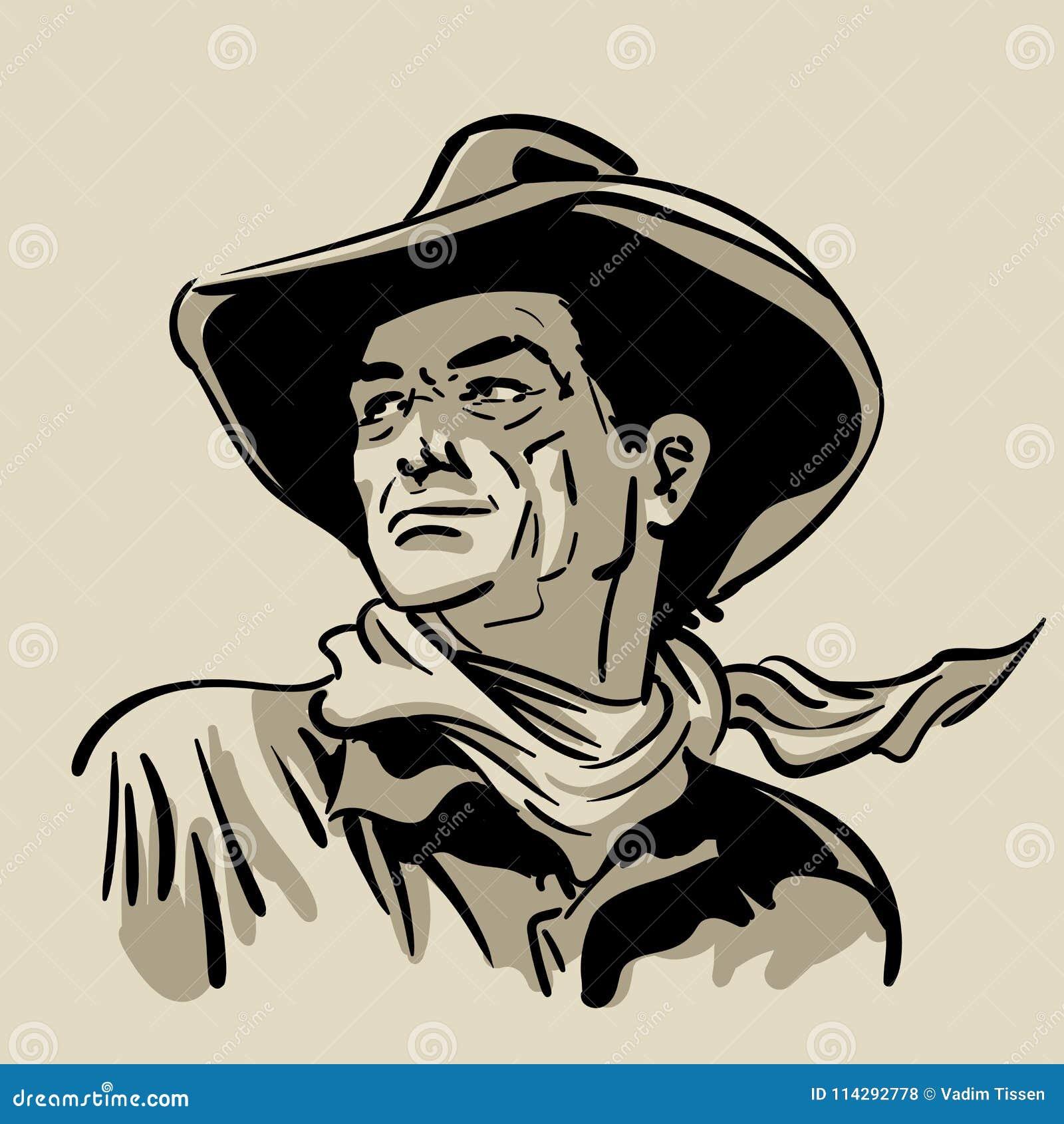 Con Bufanda El Y Occidental De Hombre Vaquero Camisa Sombrero S5qc3L4ARj