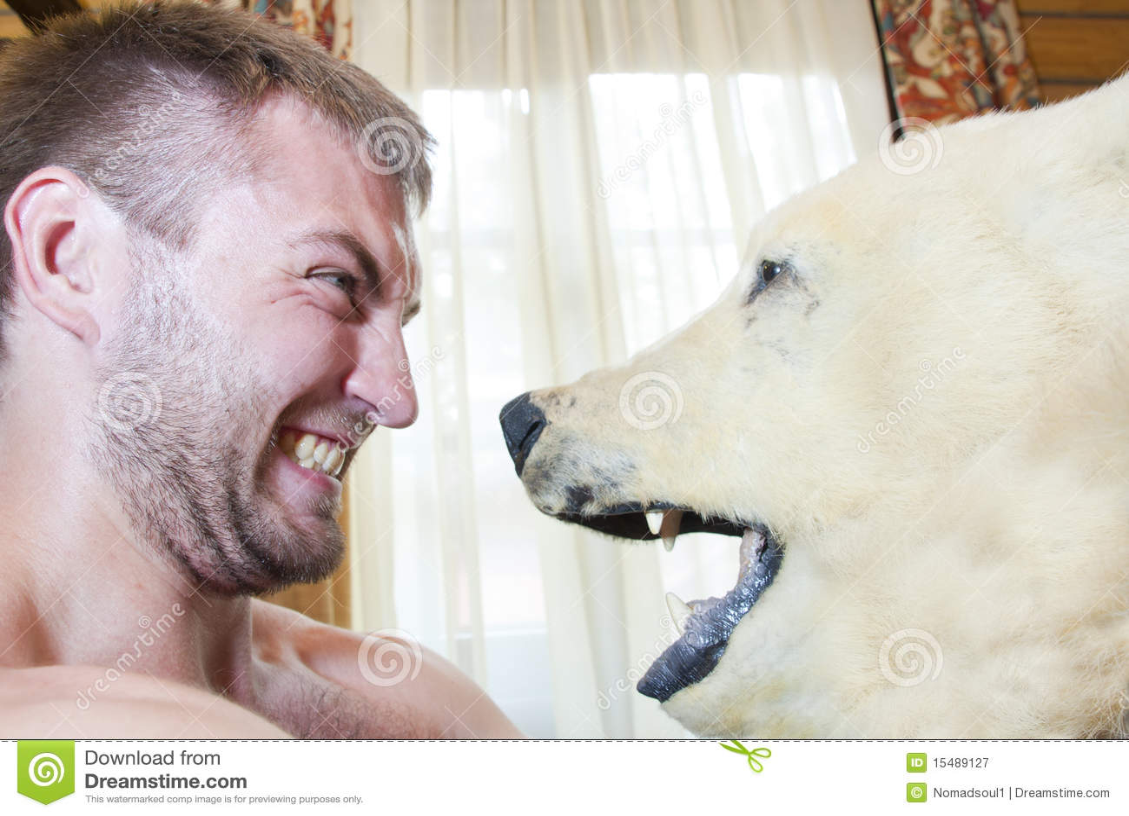 Hombre contra oso