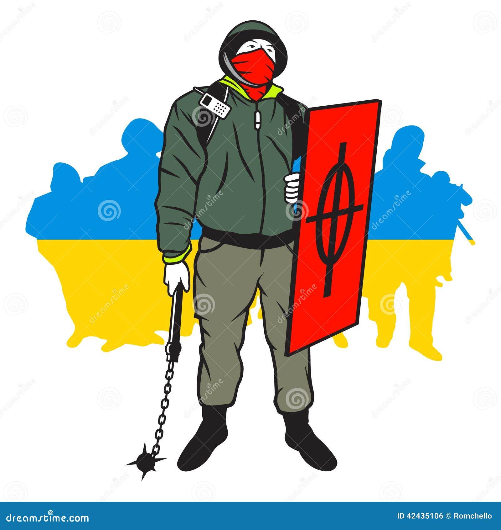 Hombre de Maidan del ucraniano