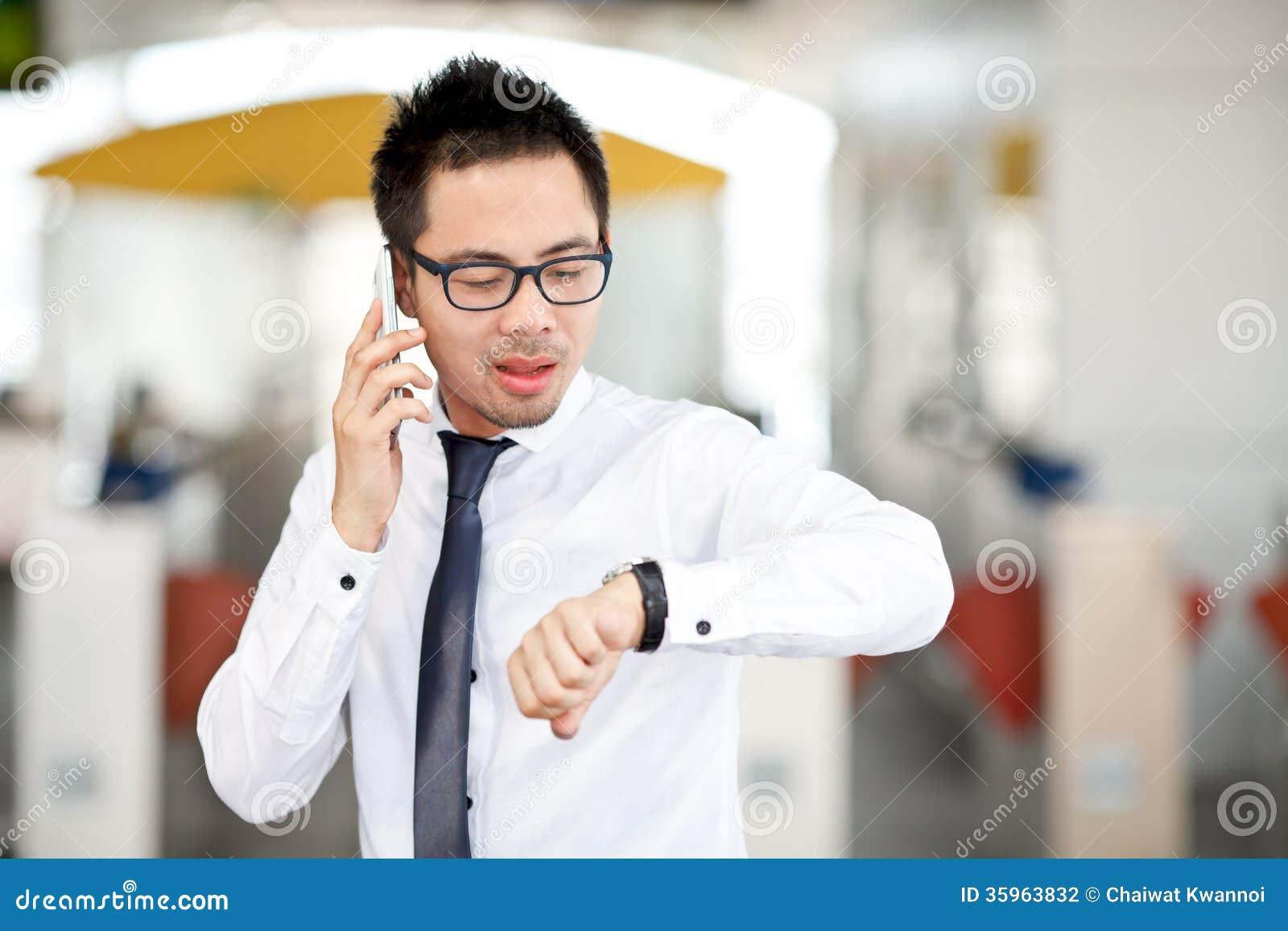 Hombre de negocios asiático