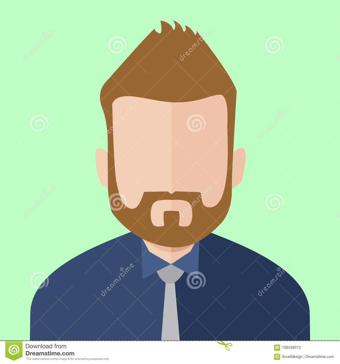 Hombre de negocios barbudo People Vector Illustration