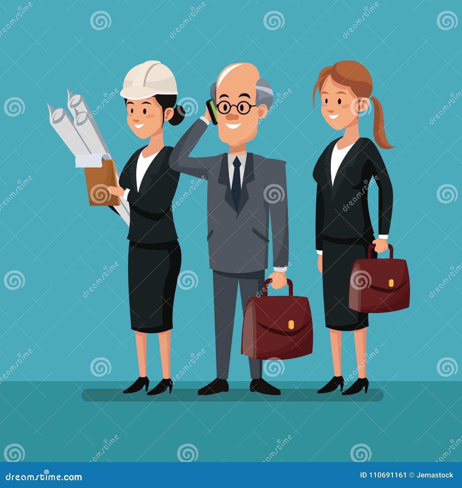 Dia Del Trabajador Mujeres hombre de negocios con día del trabajo del equipo del