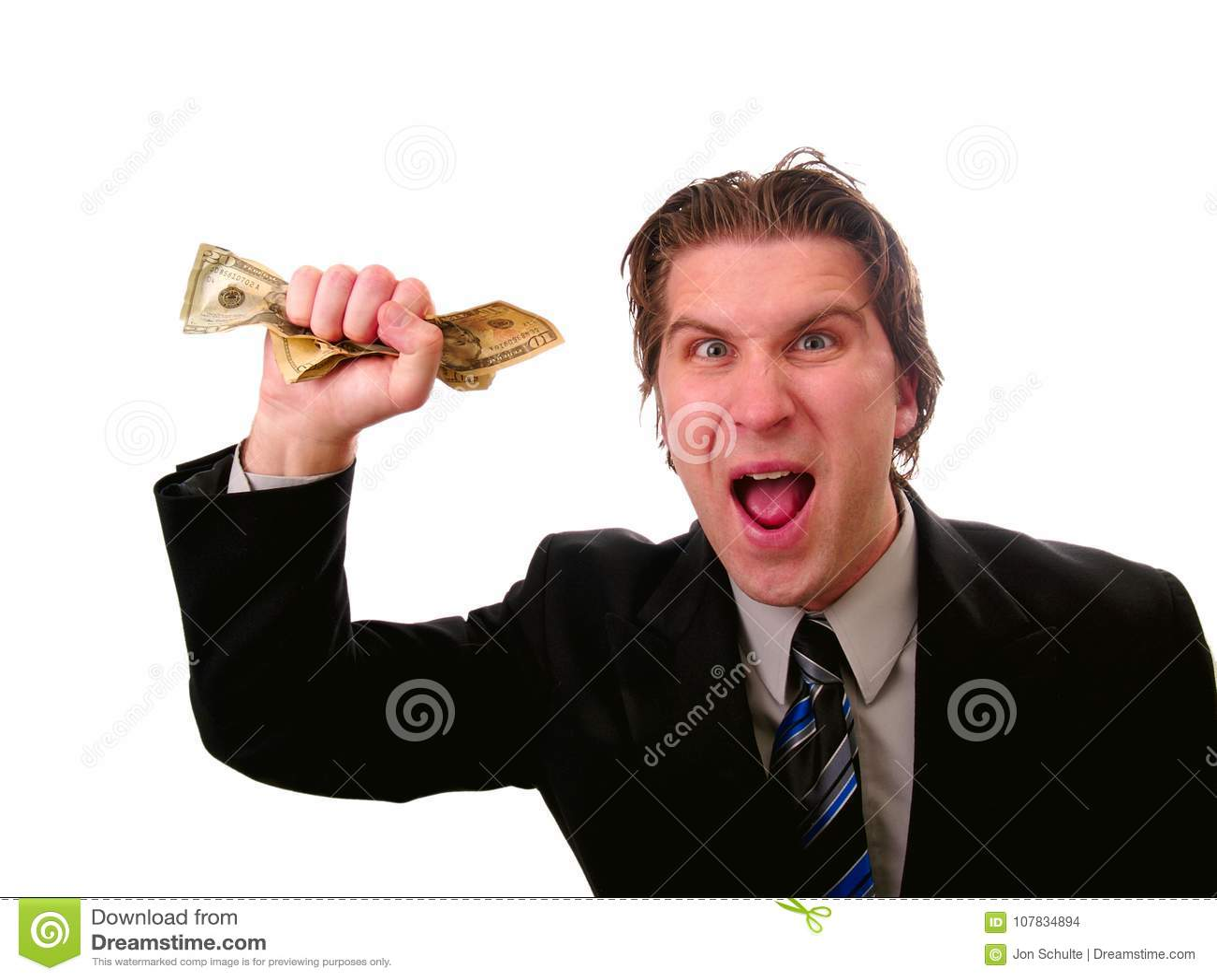 Hombre de negocios con el dinero del efectivo