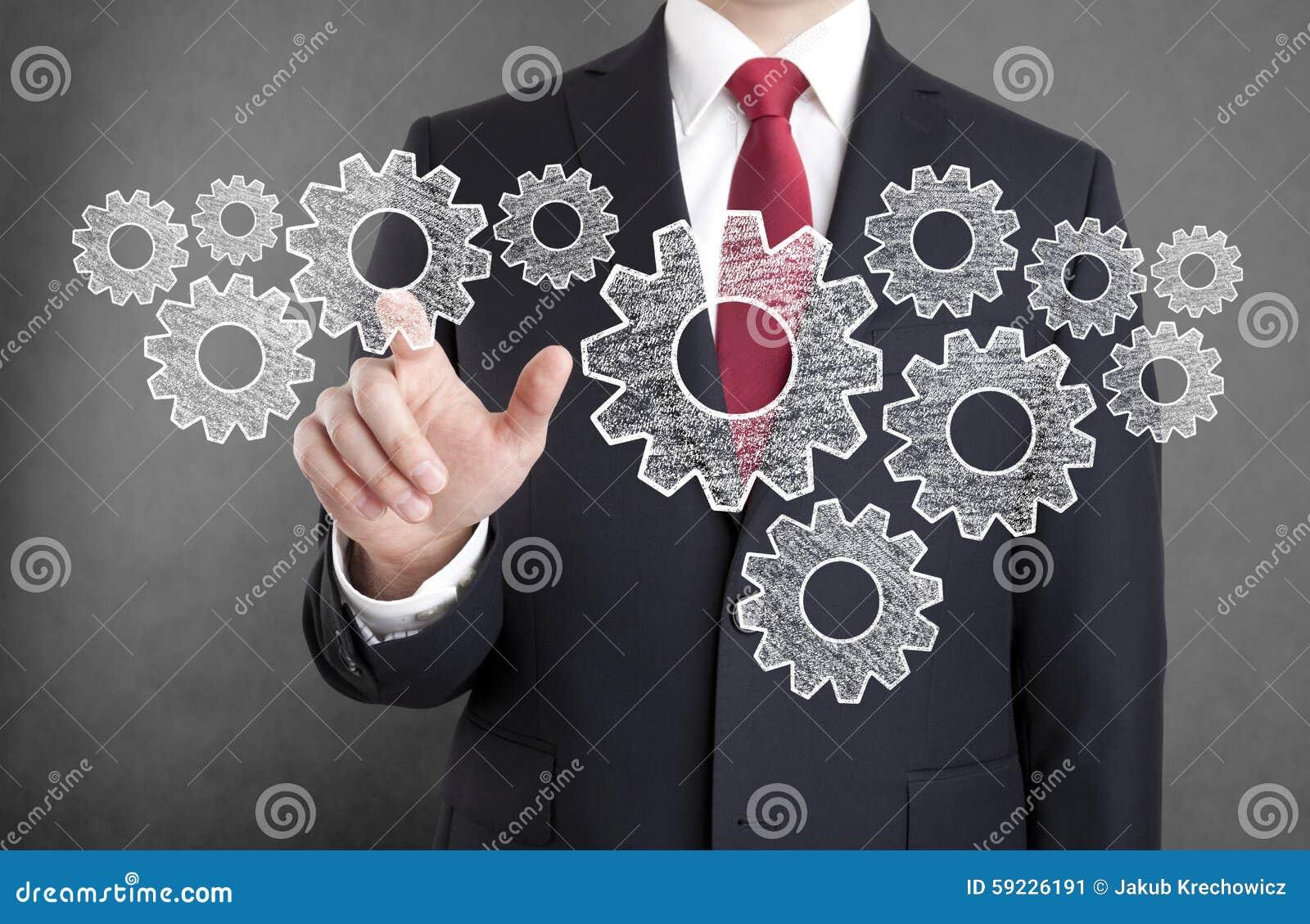 Download Hombre De Negocios Con Los Engranajes Imagen de archivo - Imagen de businessman, ilustración: 59226191