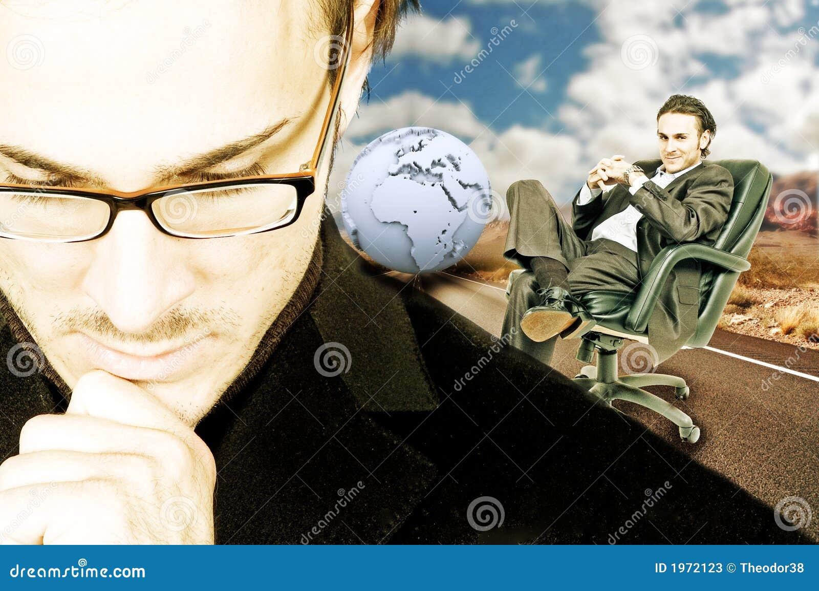 Hombre de negocios de pensamiento