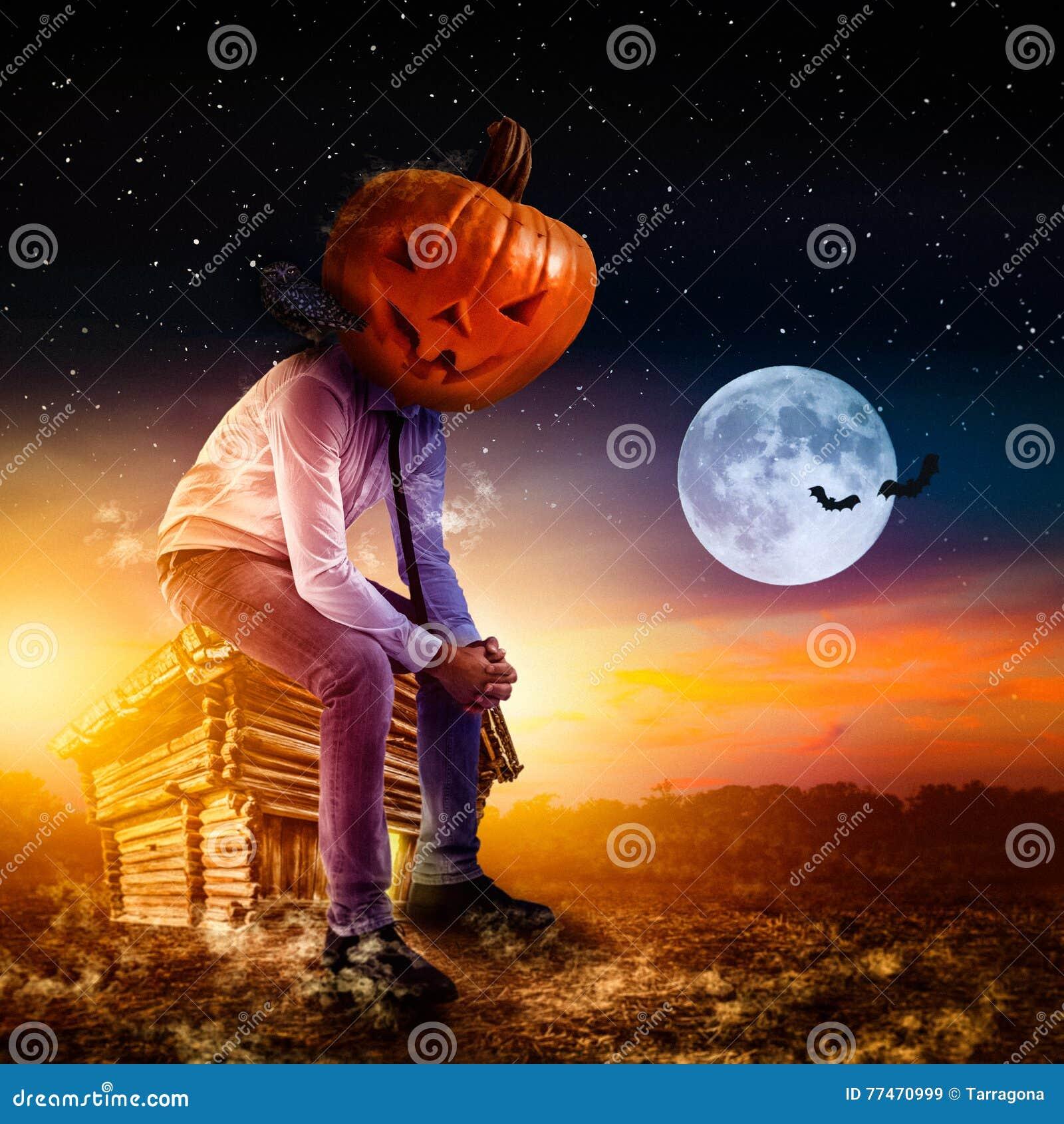 Hombre de negocios el Halloween