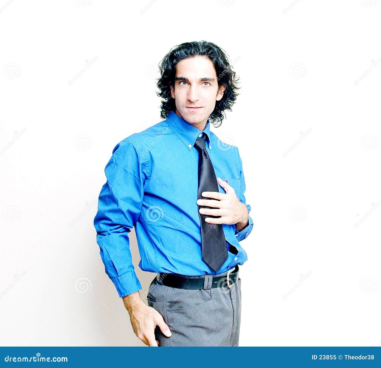 Hombre de negocios en alto clave