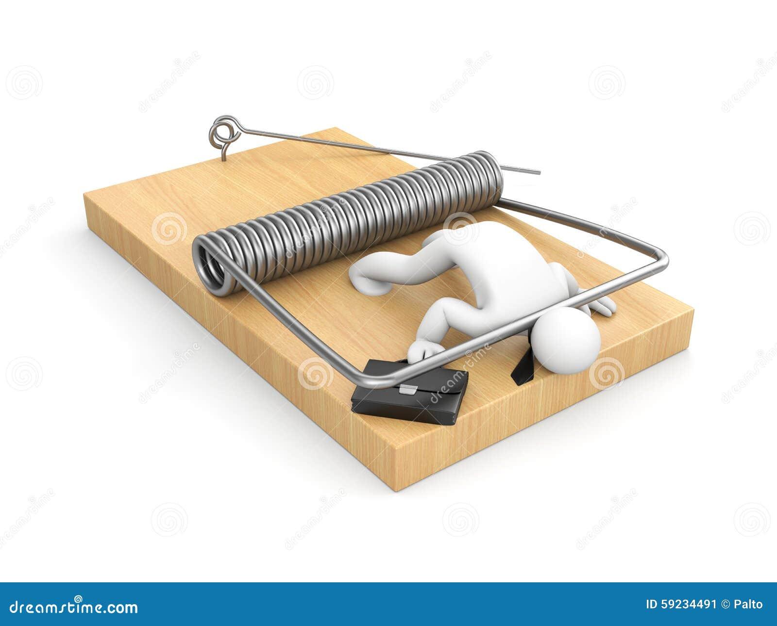 Download Hombre De Negocios En La Ratonera Stock de ilustración - Ilustración de malo, problema: 59234491