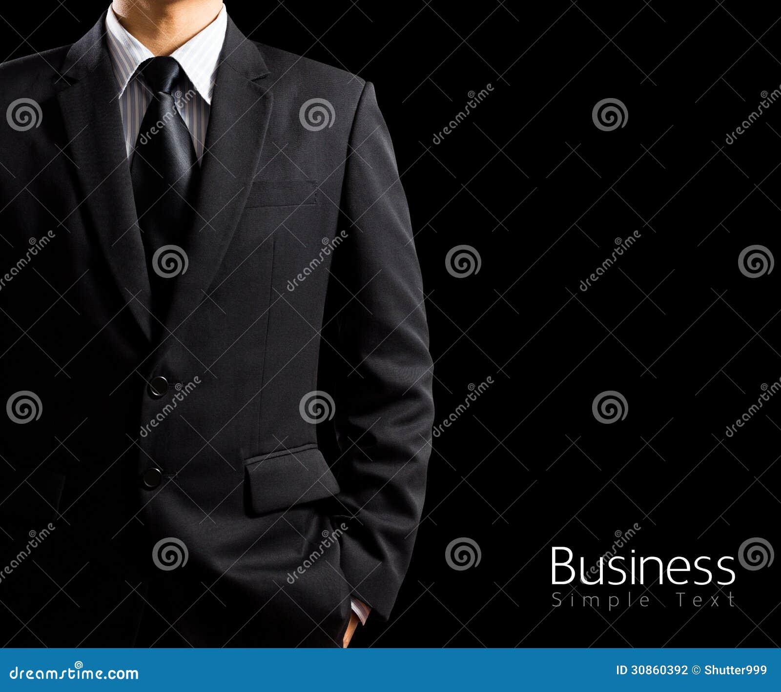 Hombre De Negocios En Traje En Fondo Negro Foto de archivo - Imagen ... c6e538753eb