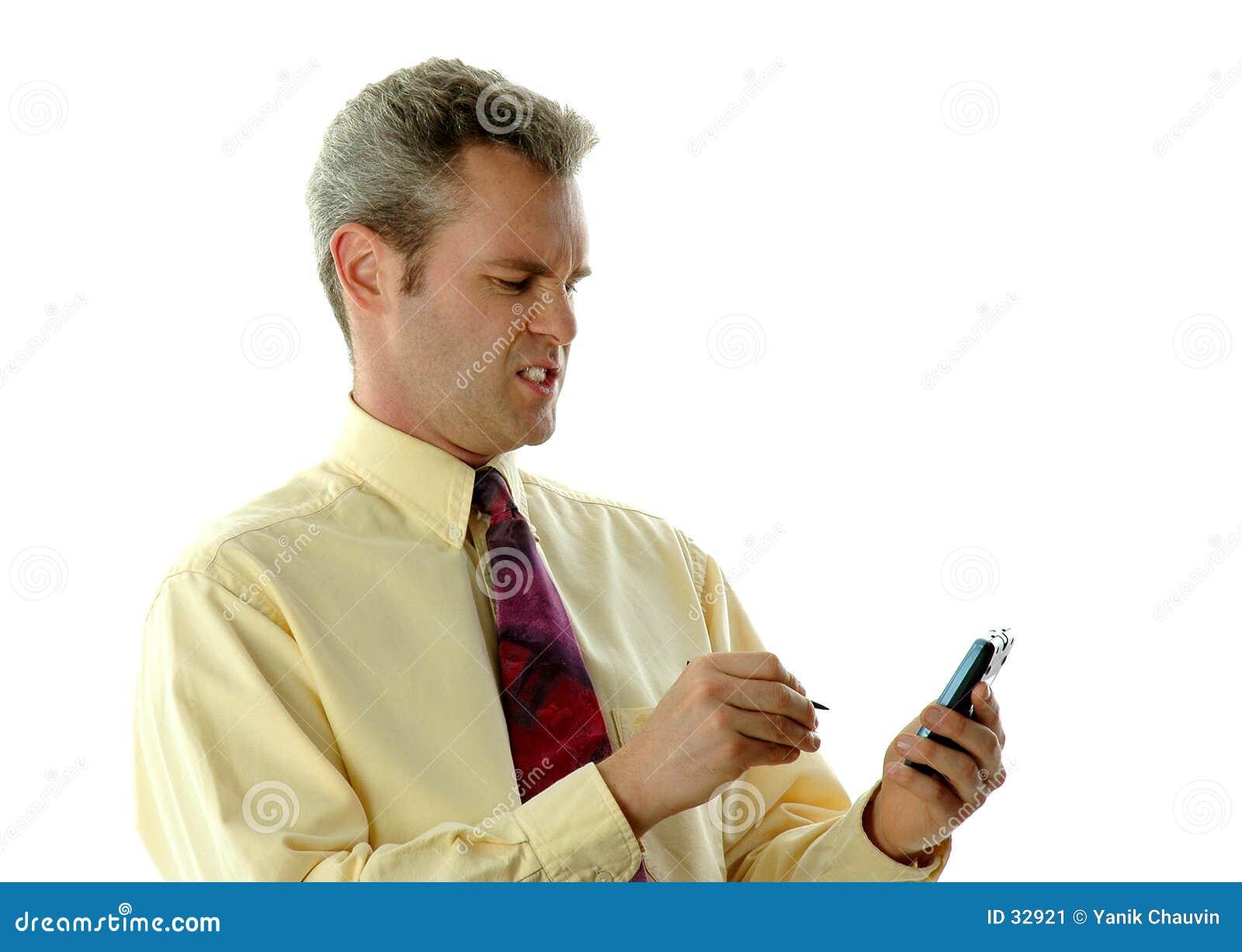 Download Hombre de negocios enojado imagen de archivo. Imagen de amarillo - 32921