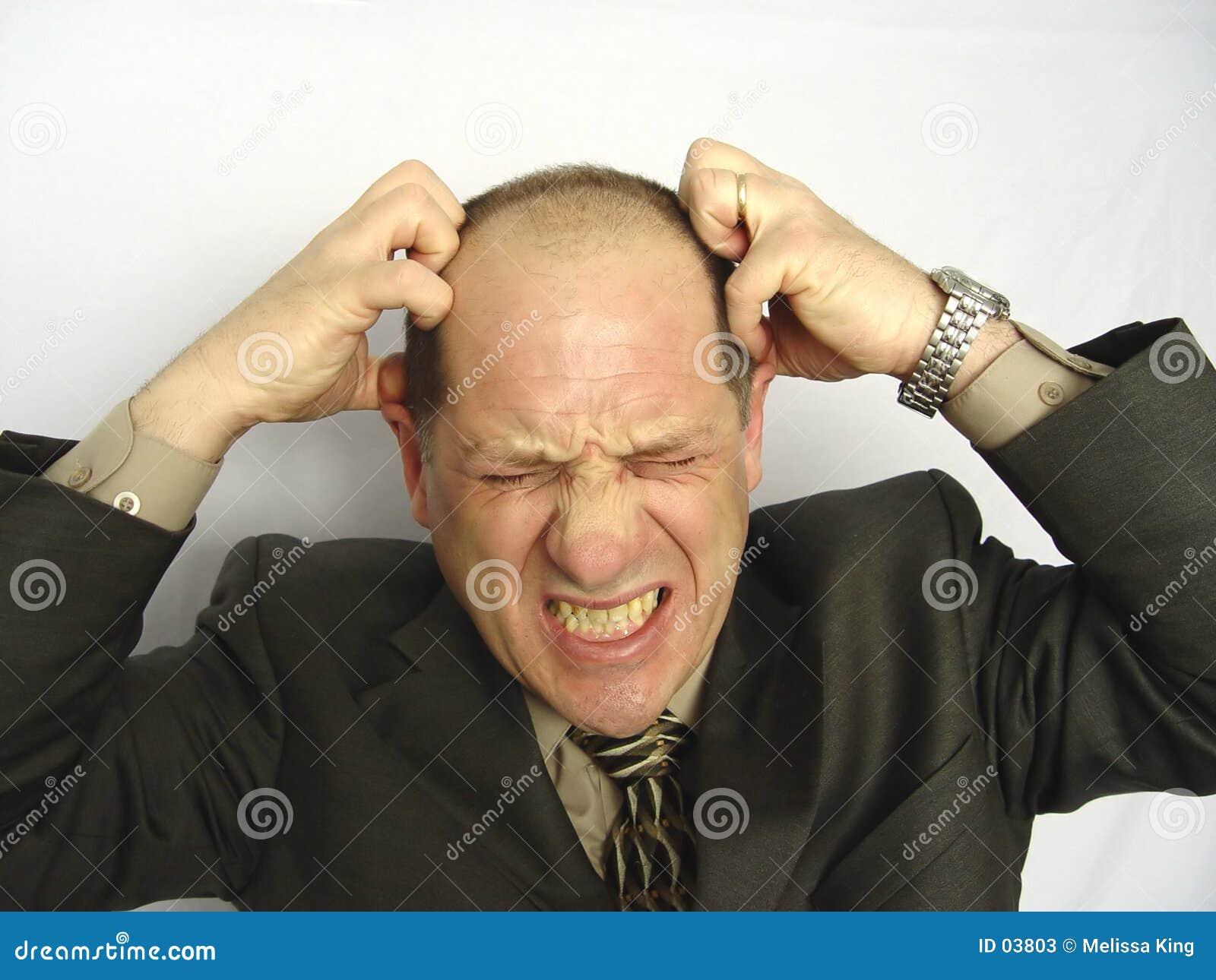 Hombre de negocios frustrado