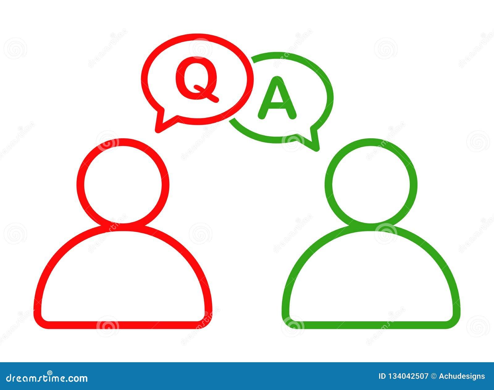 Hombre de negocios que habla con el icono de ruegos y preguntas de la información