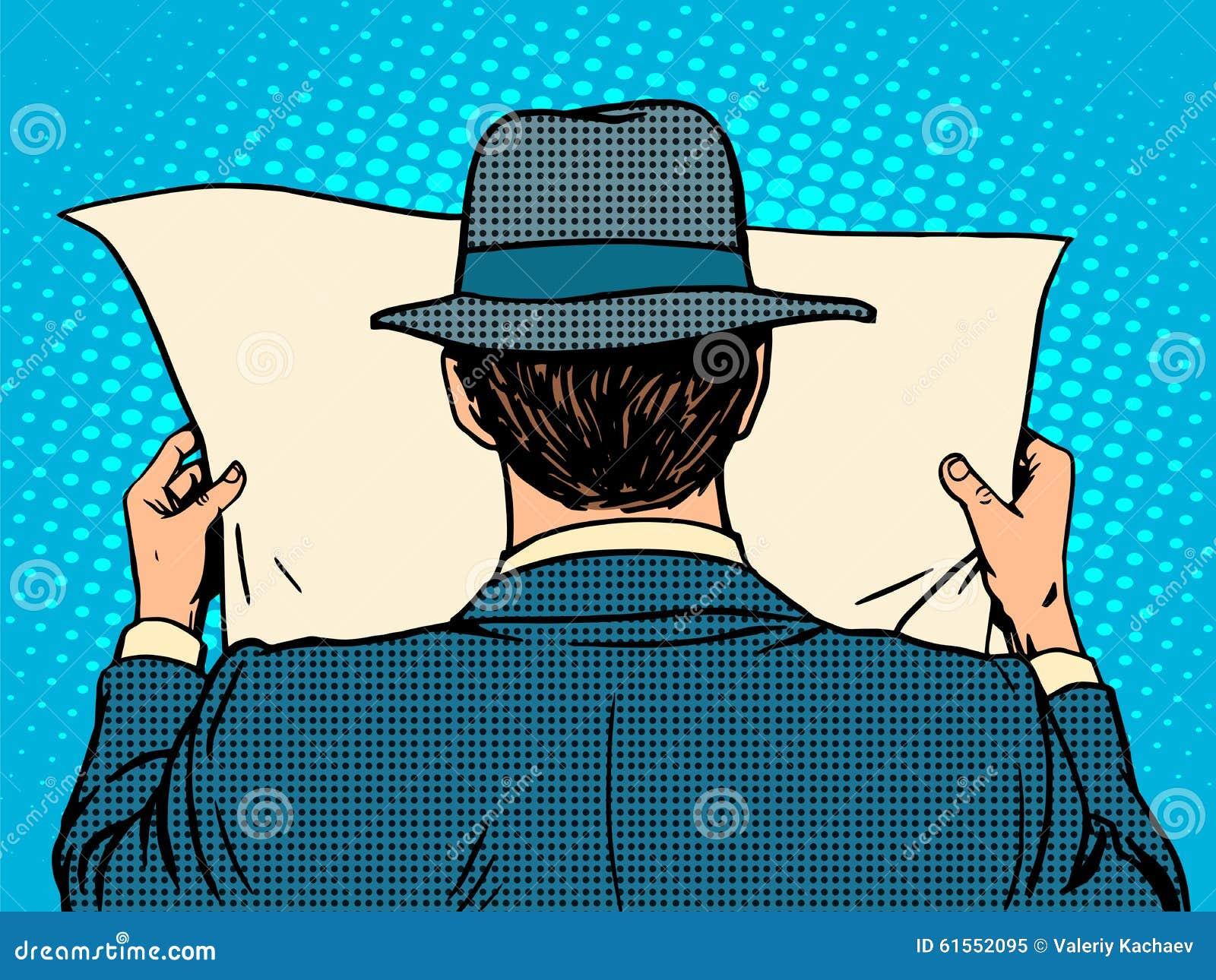 Hombre de negocios que lee un periódico
