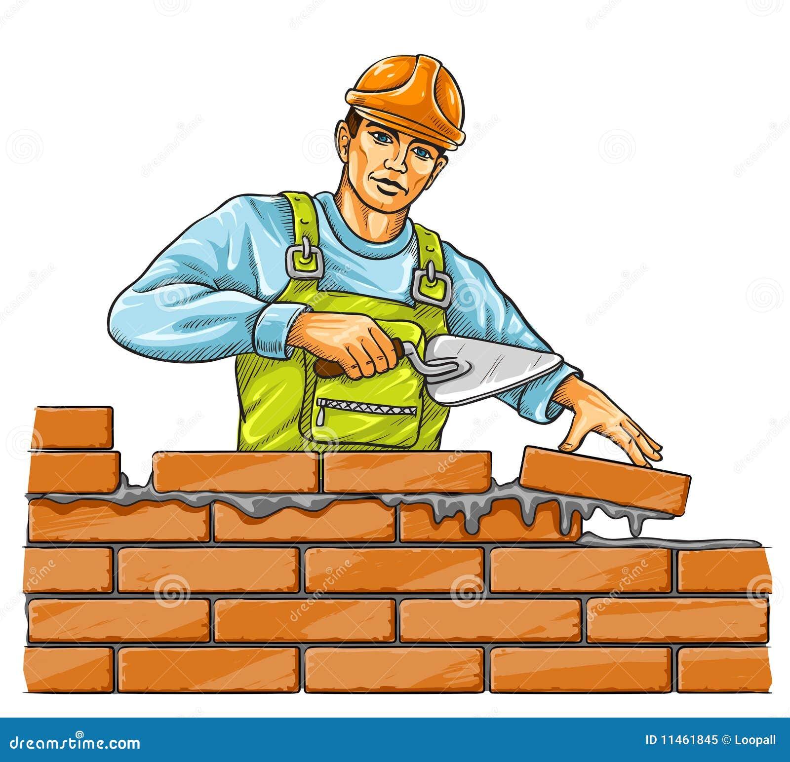 Hombre del constructor con la herramienta de derby que for Constructor de casas