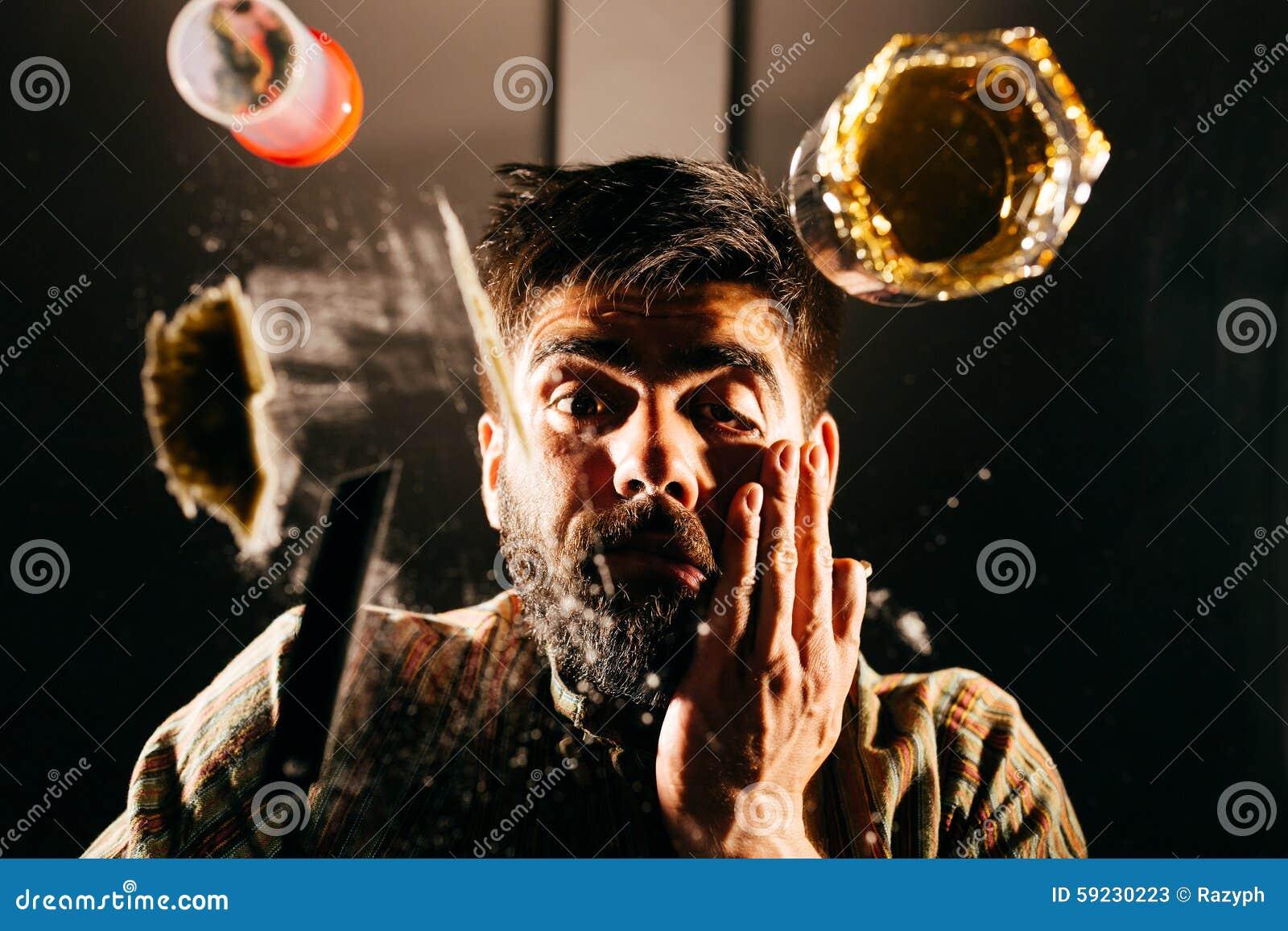 Download Hombre drogado imagen de archivo. Imagen de ilegal, desastre - 59230223