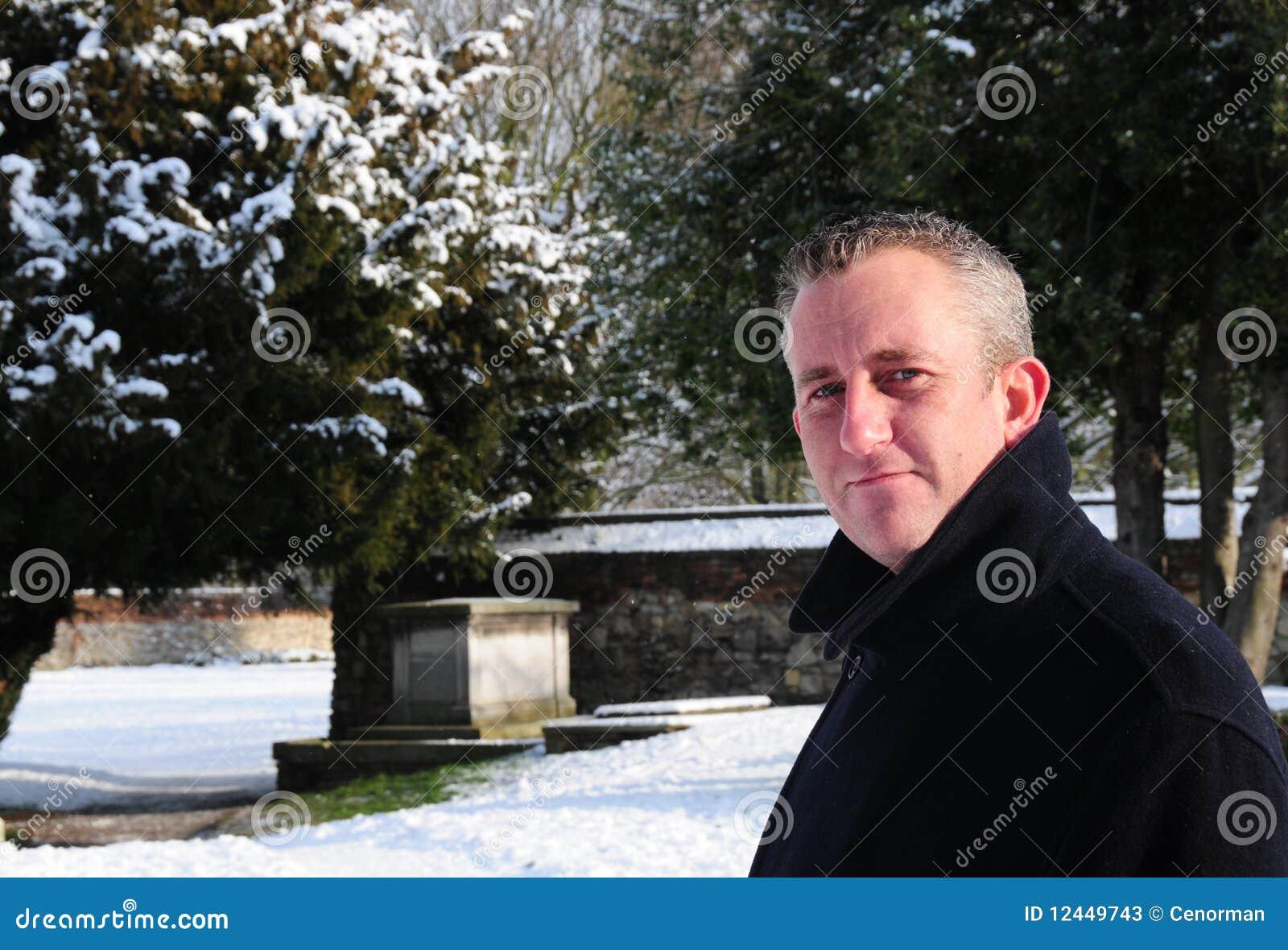 Hombre en invierno