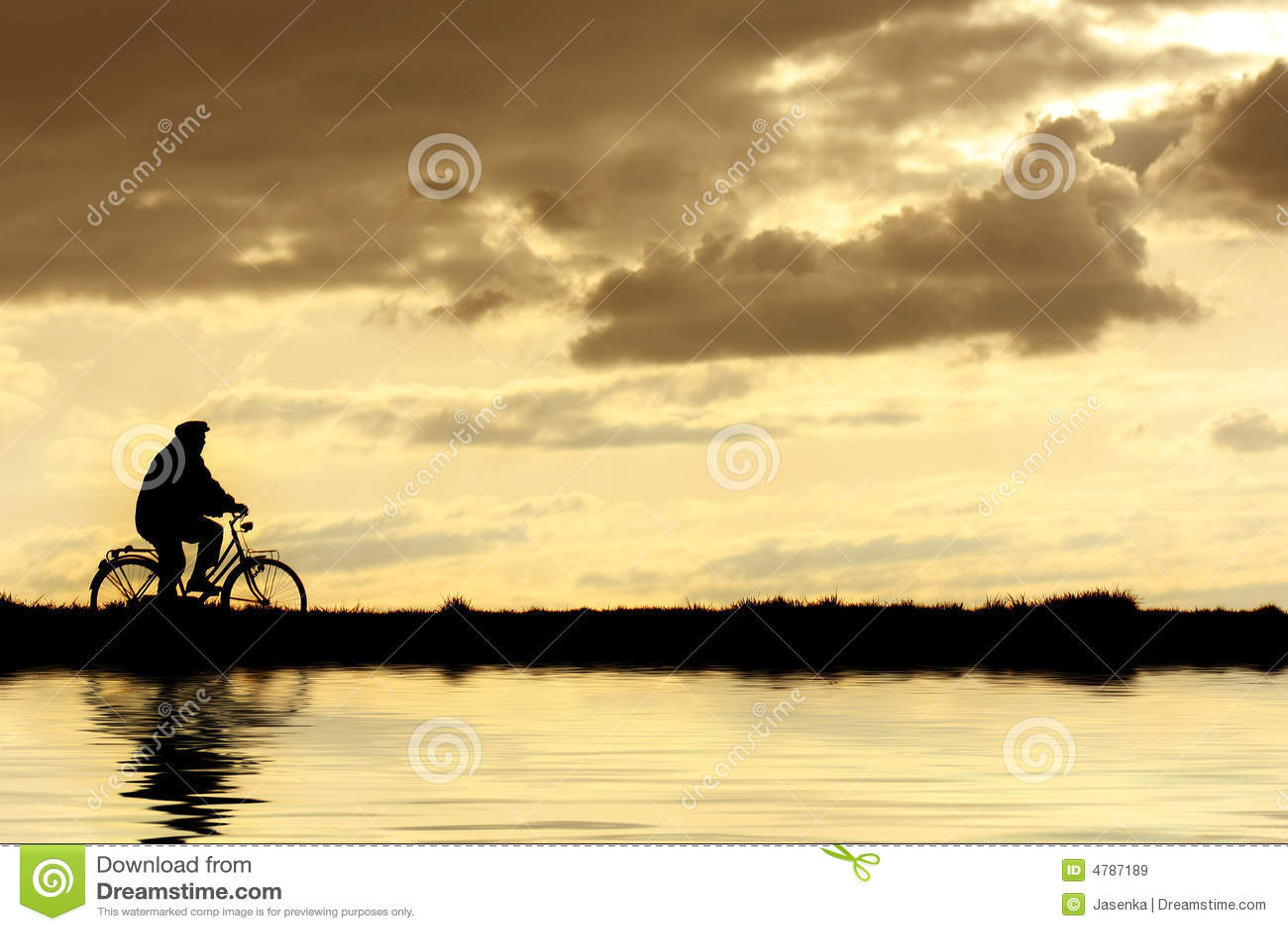 Hombre en la bicicleta