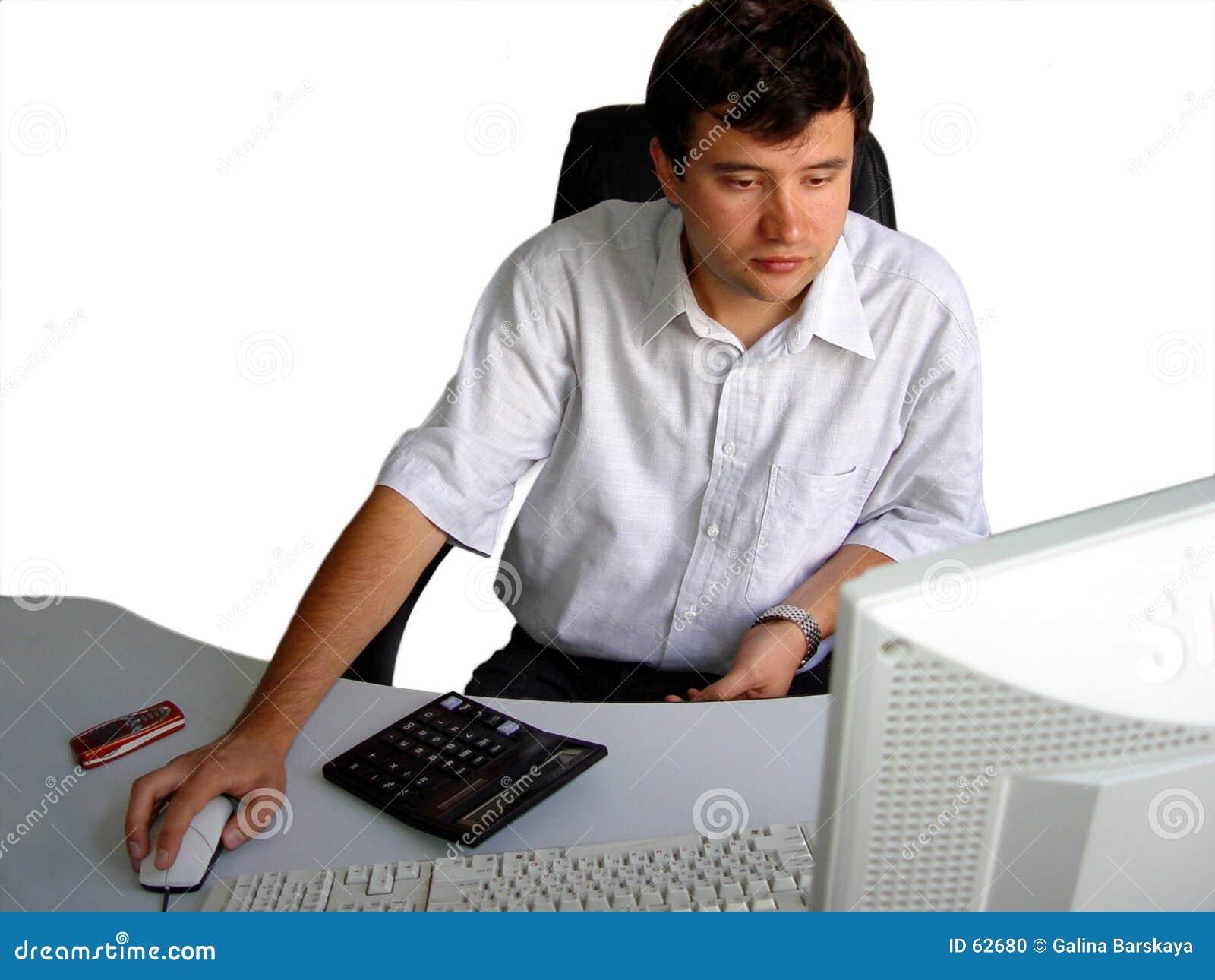 Hombre en su oficina