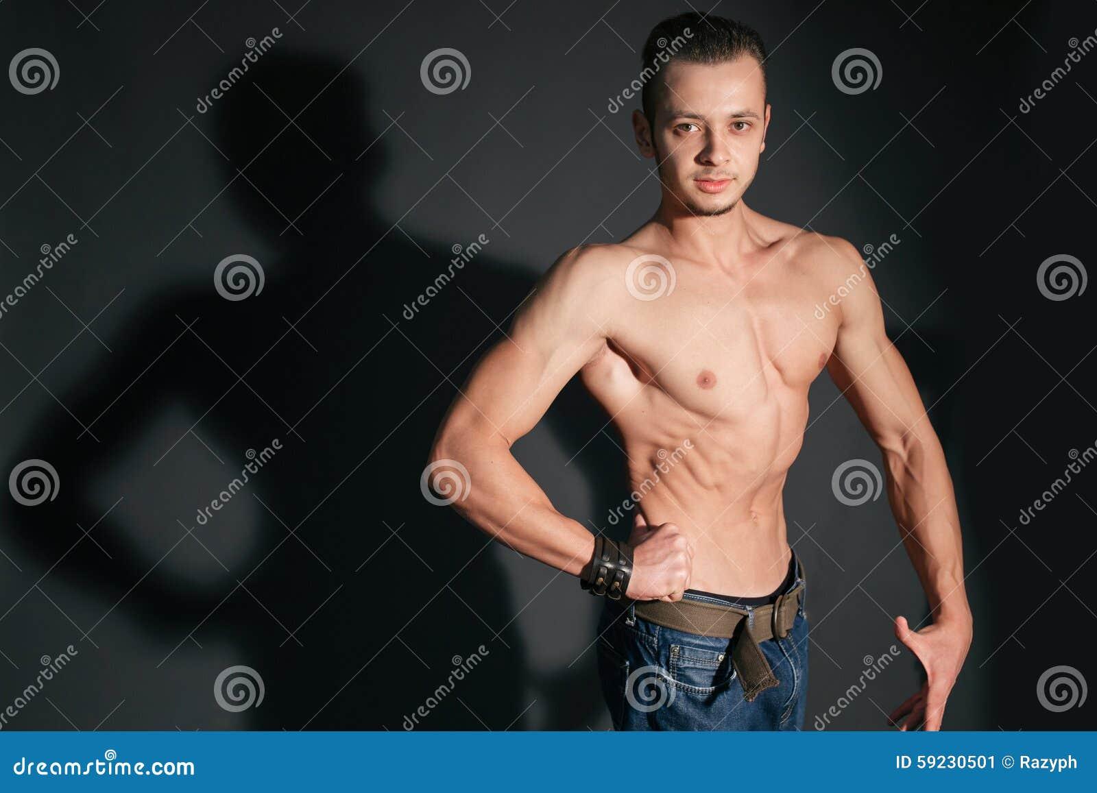 Hombre formado pozo