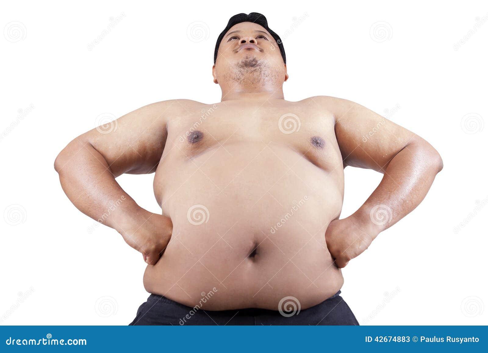 Adulto gordo joven