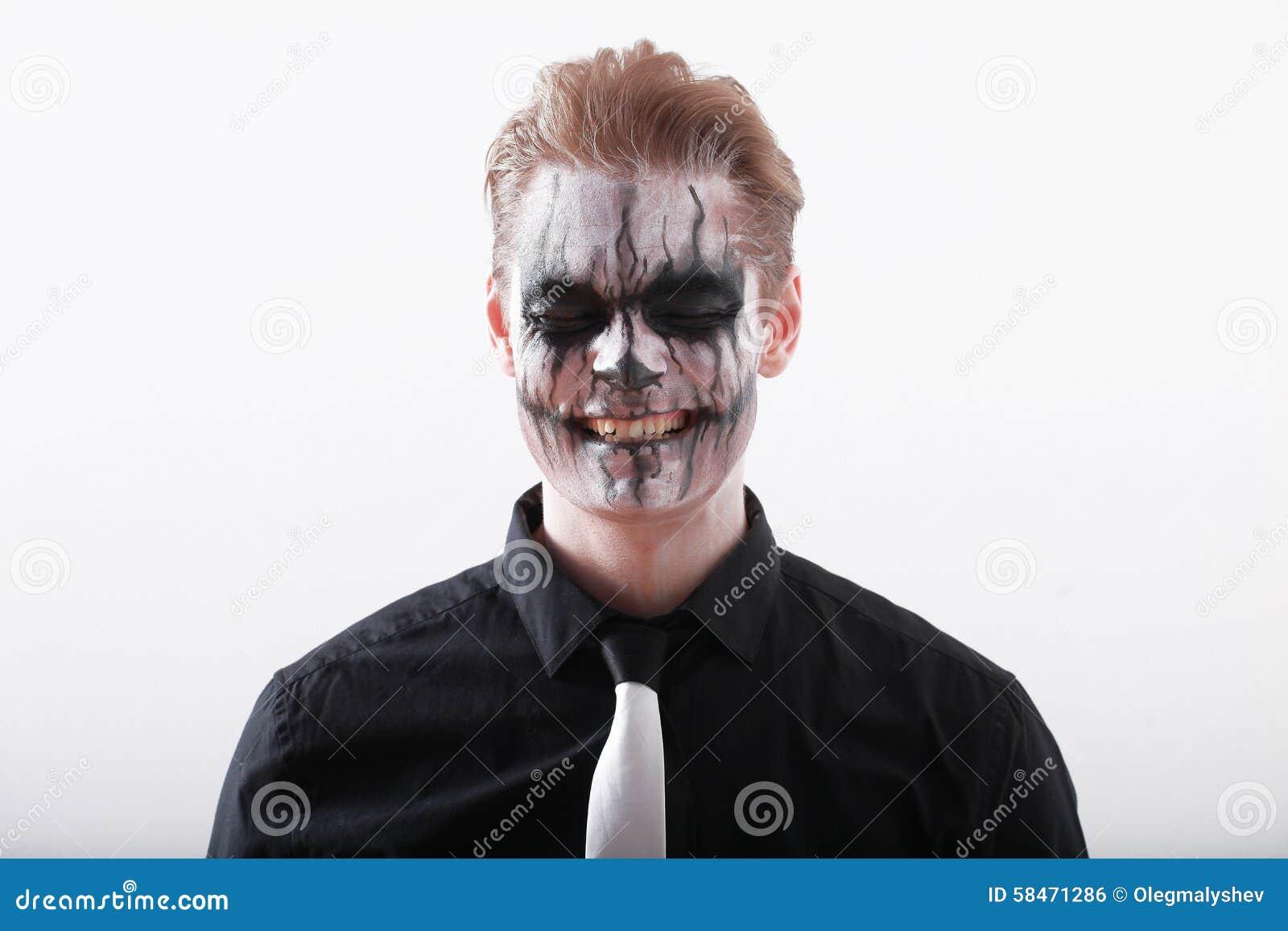 hombre halloween imagen de archivo libre de regalas