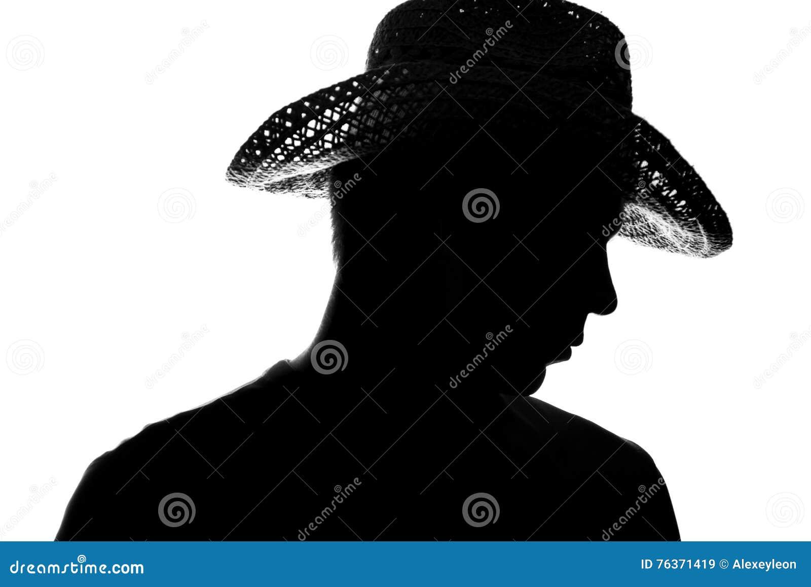 Hombre Joven En Un Sombrero De Paja
