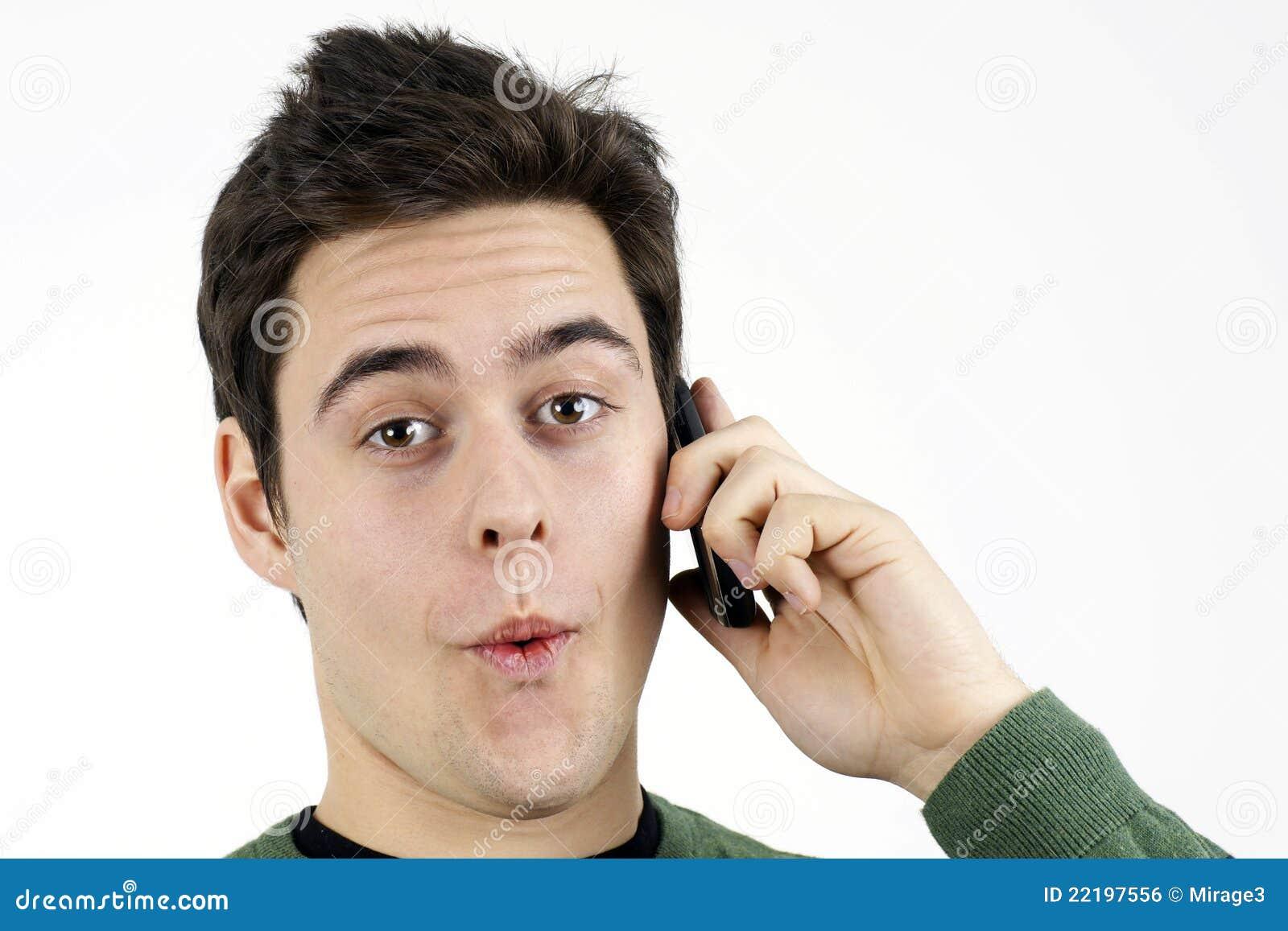 hombre telefono: