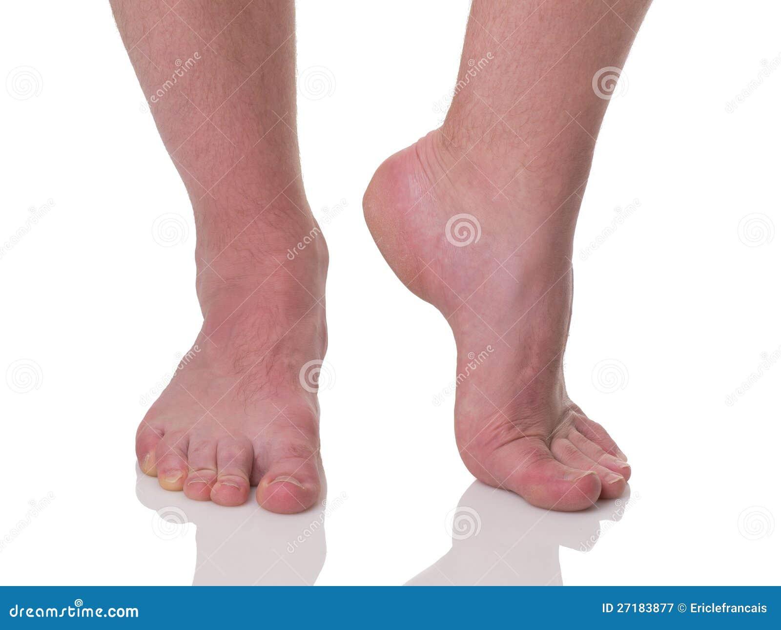 Solo pies regordetes maduros