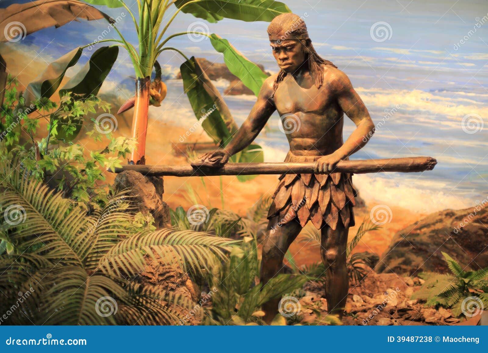 Hombre primitivo que hace el palillo
