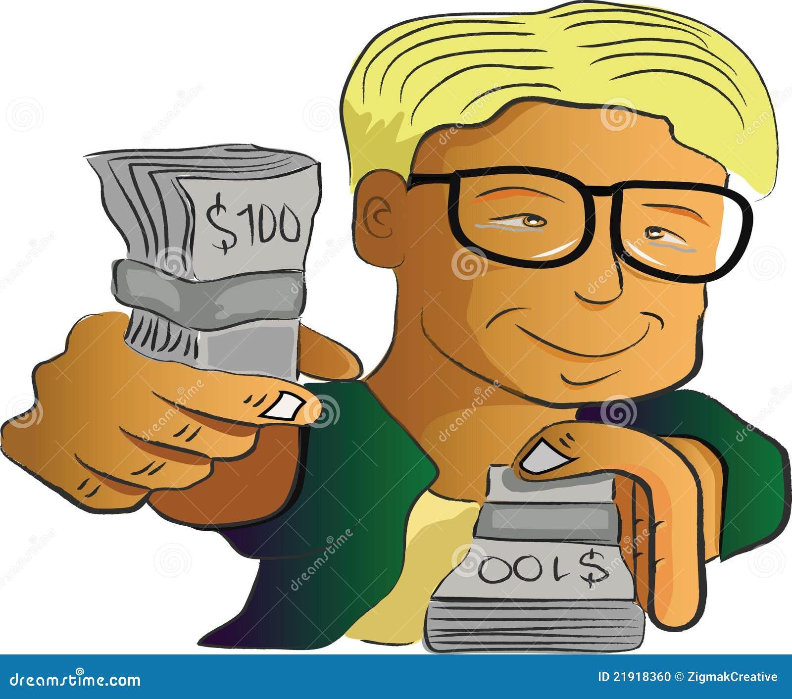 Hombre que muestra el dinero