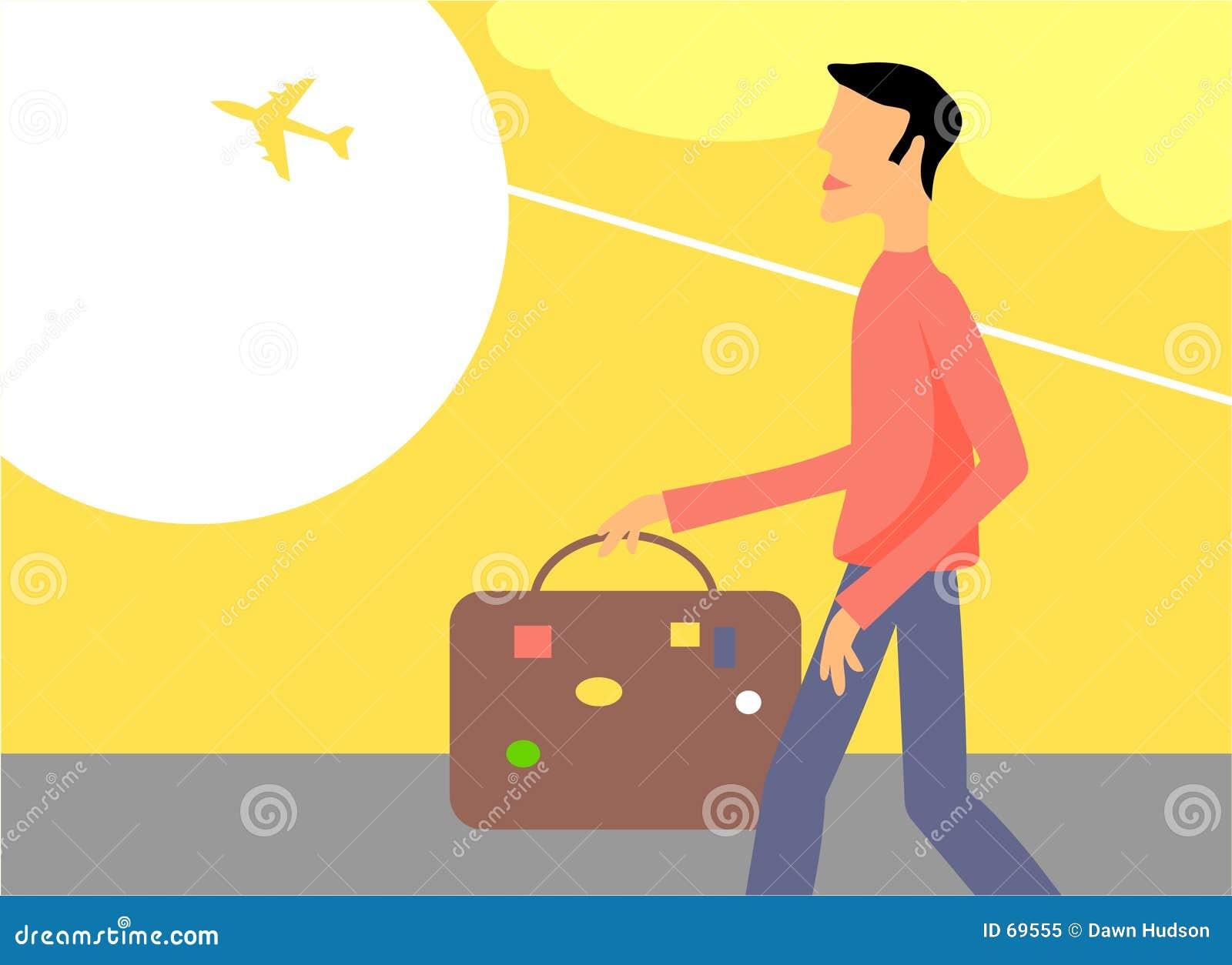 Hombre que viaja