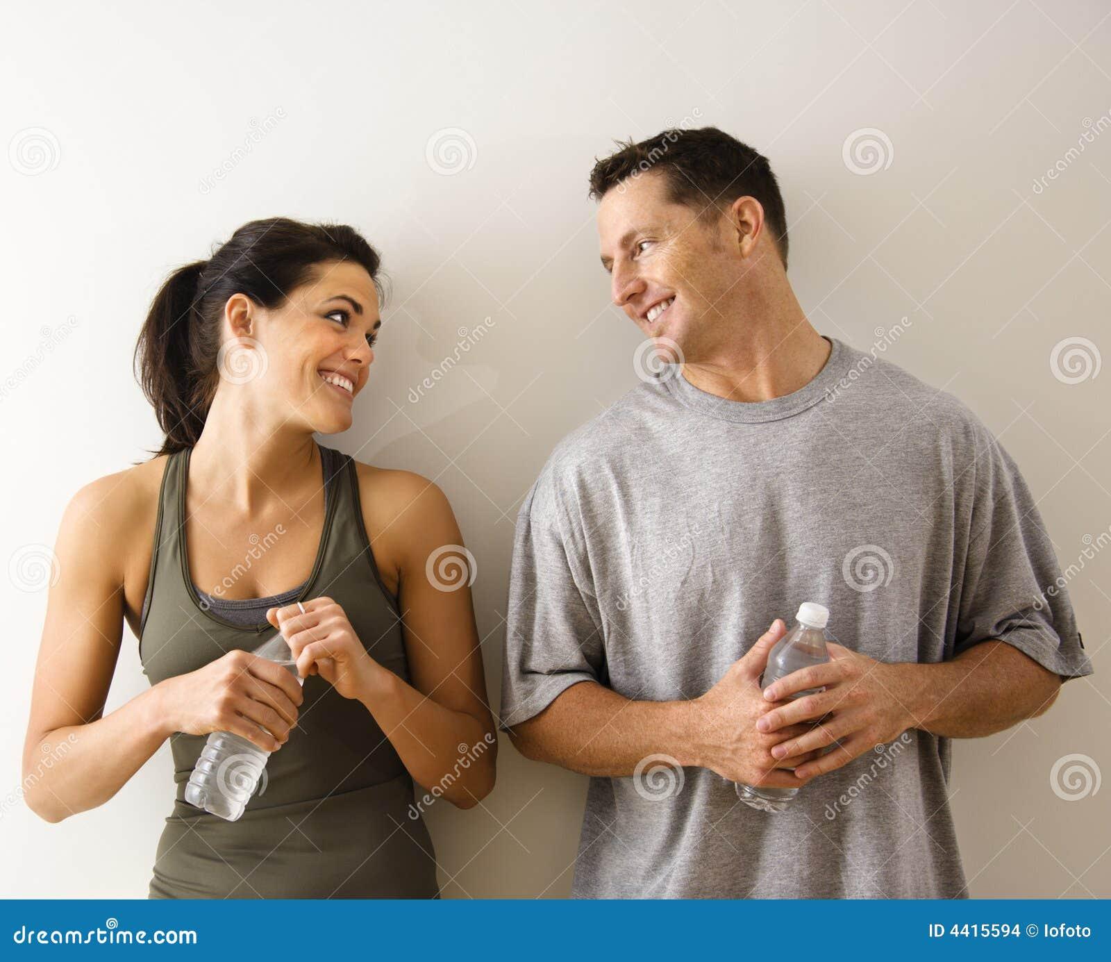 Hombre y mujer de la aptitud