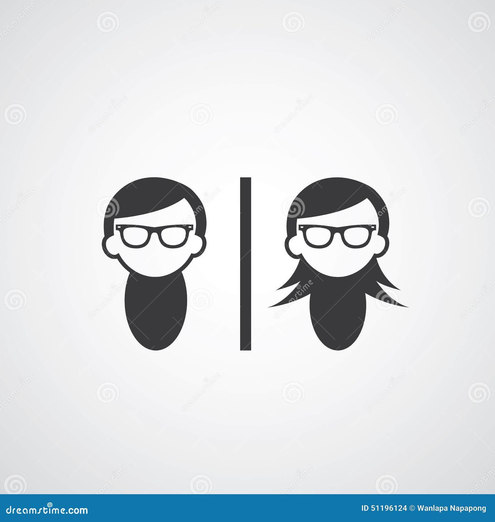 Hombre Y Mujer Del Símbolo Del Vector Ilustración Del Vector