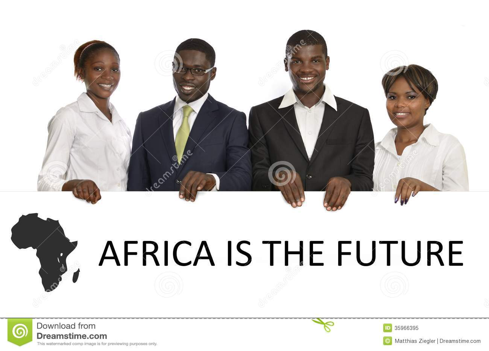Hombres de negocios africanos