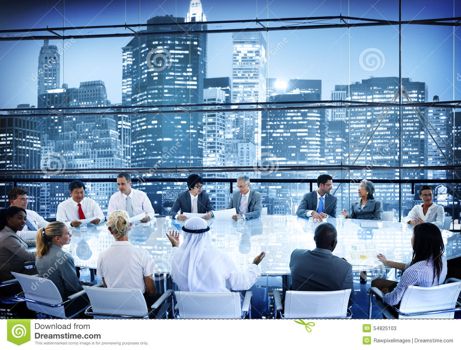 Hombres de negocios de reunión de la conversación Team Working Concept de la sala