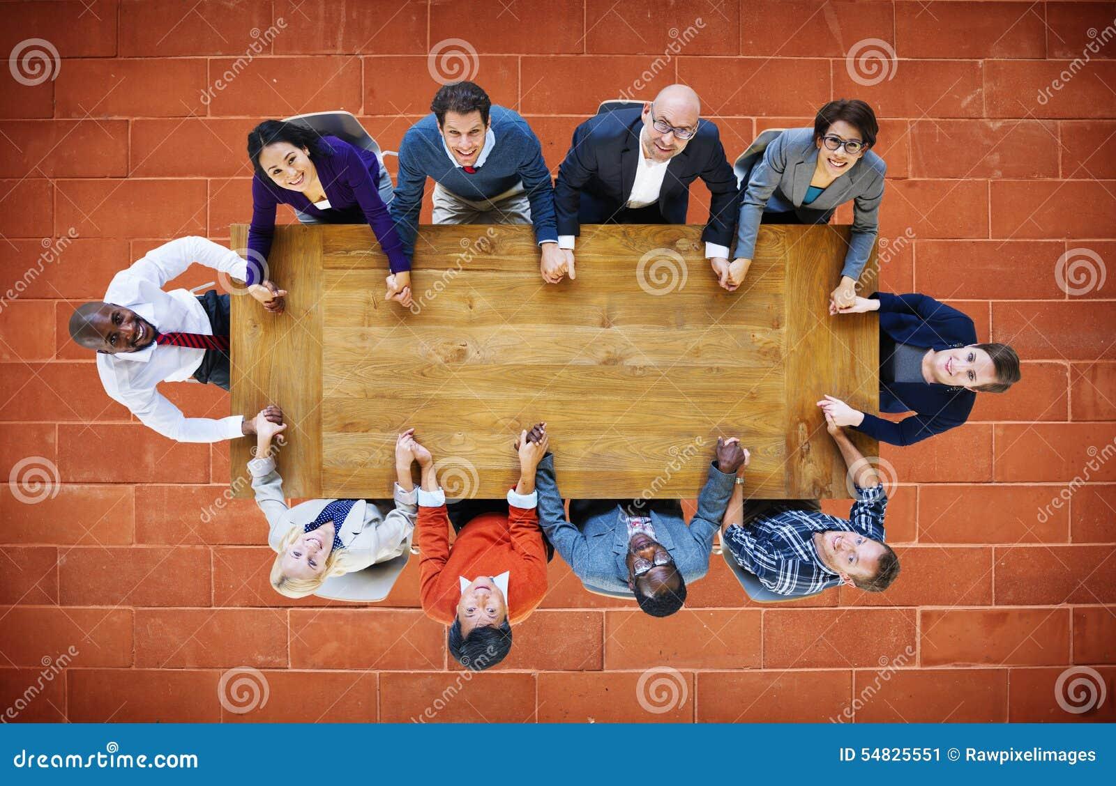 Hombres de negocios de Team Connection Togetherness Concept