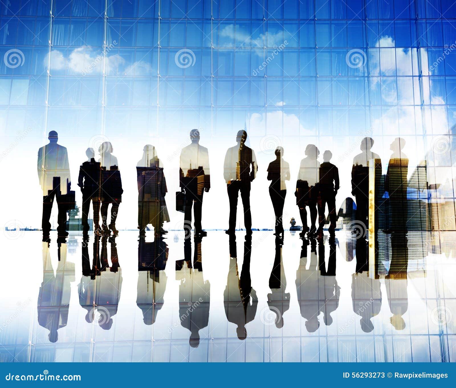 Hombres de negocios de Vision de la aspiración de las metas del concepto corporativo de la ciudad
