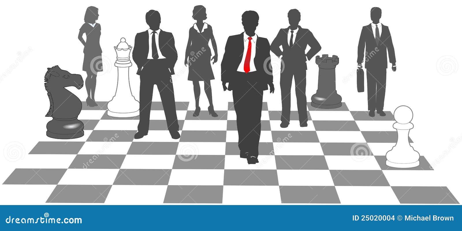 hombres de negocios del ajedrez de las personas del juego