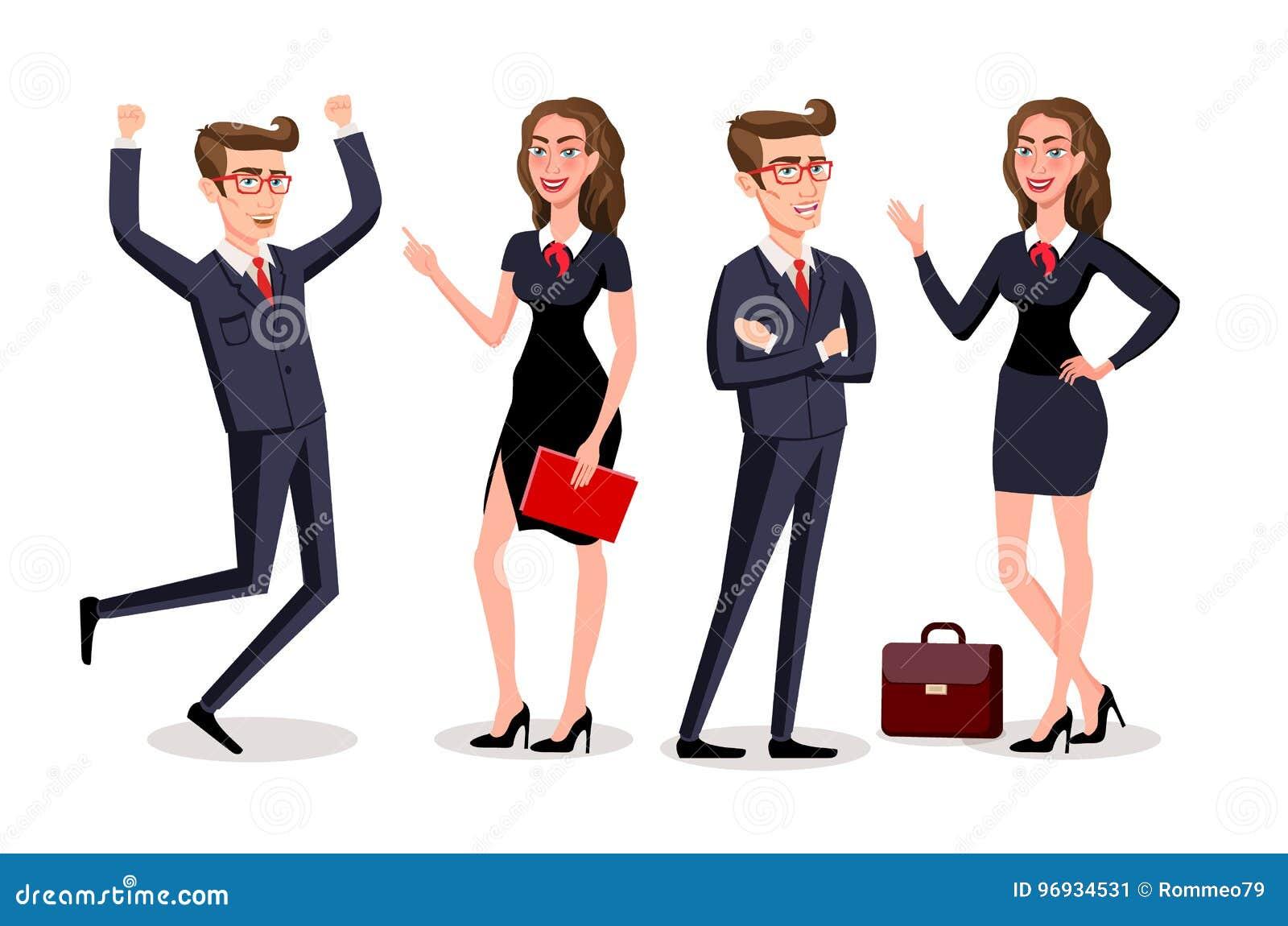 Hombres de negocios del trabajo en equipo personaje de for Oficina de empleo mas cercana