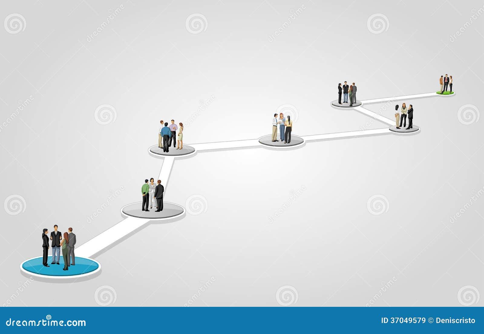 Hombres de negocios en flujo de trabajo