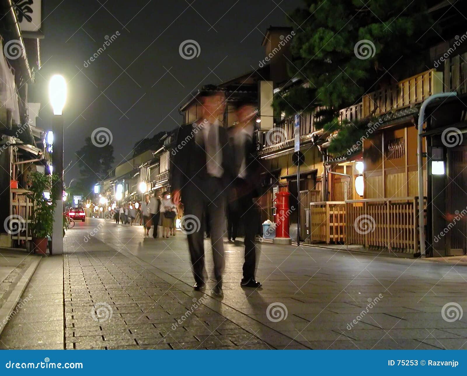 Hombres de negocios en Gion